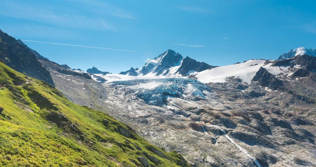Glacier in the French Alps