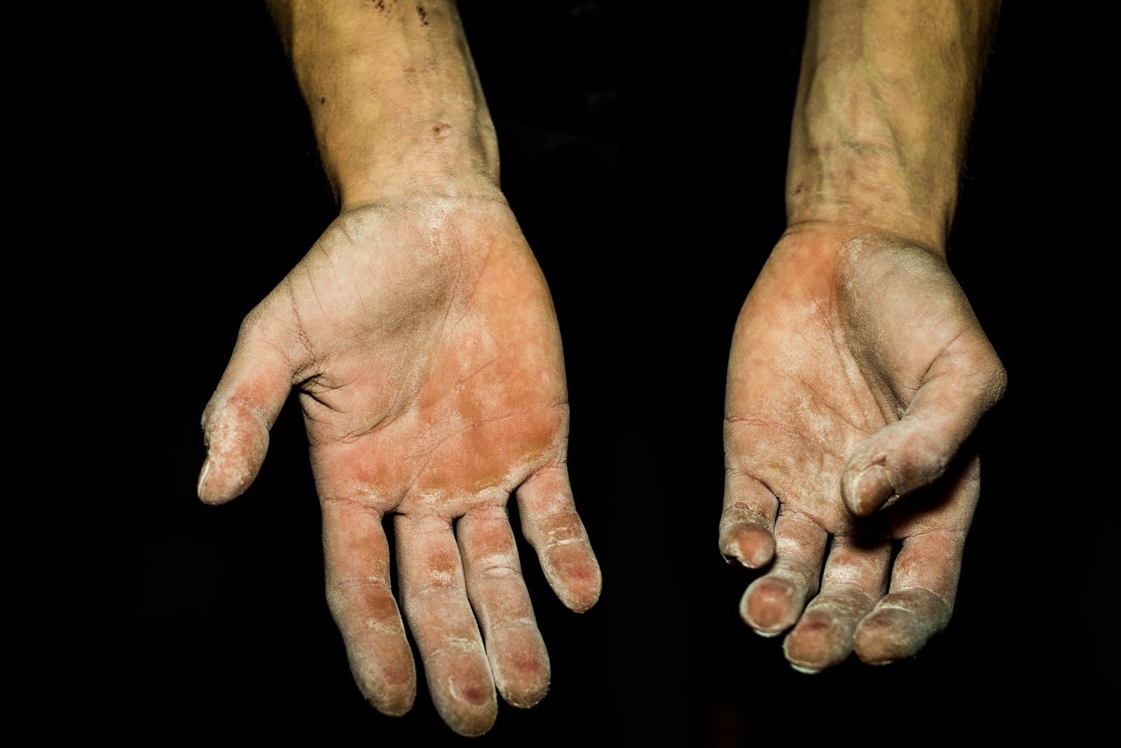 Hands of Janja Garnbret from Slovenia