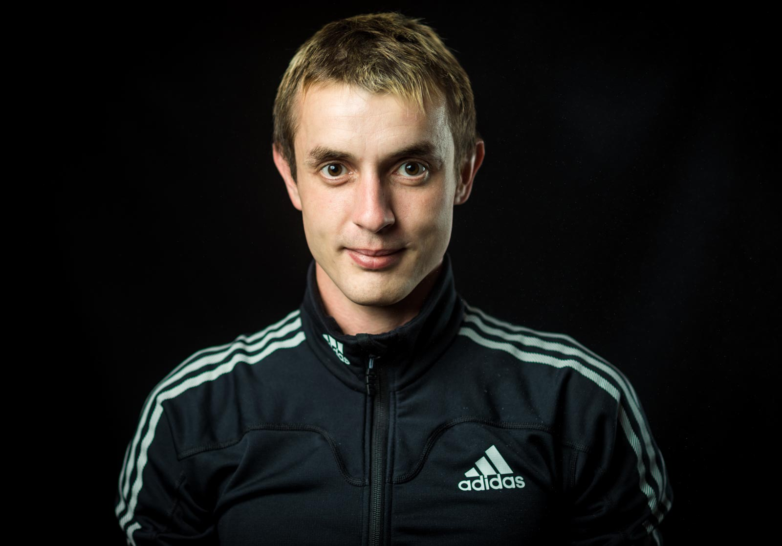 Portrait of climber Dmitri Sharafutdinov from Russia