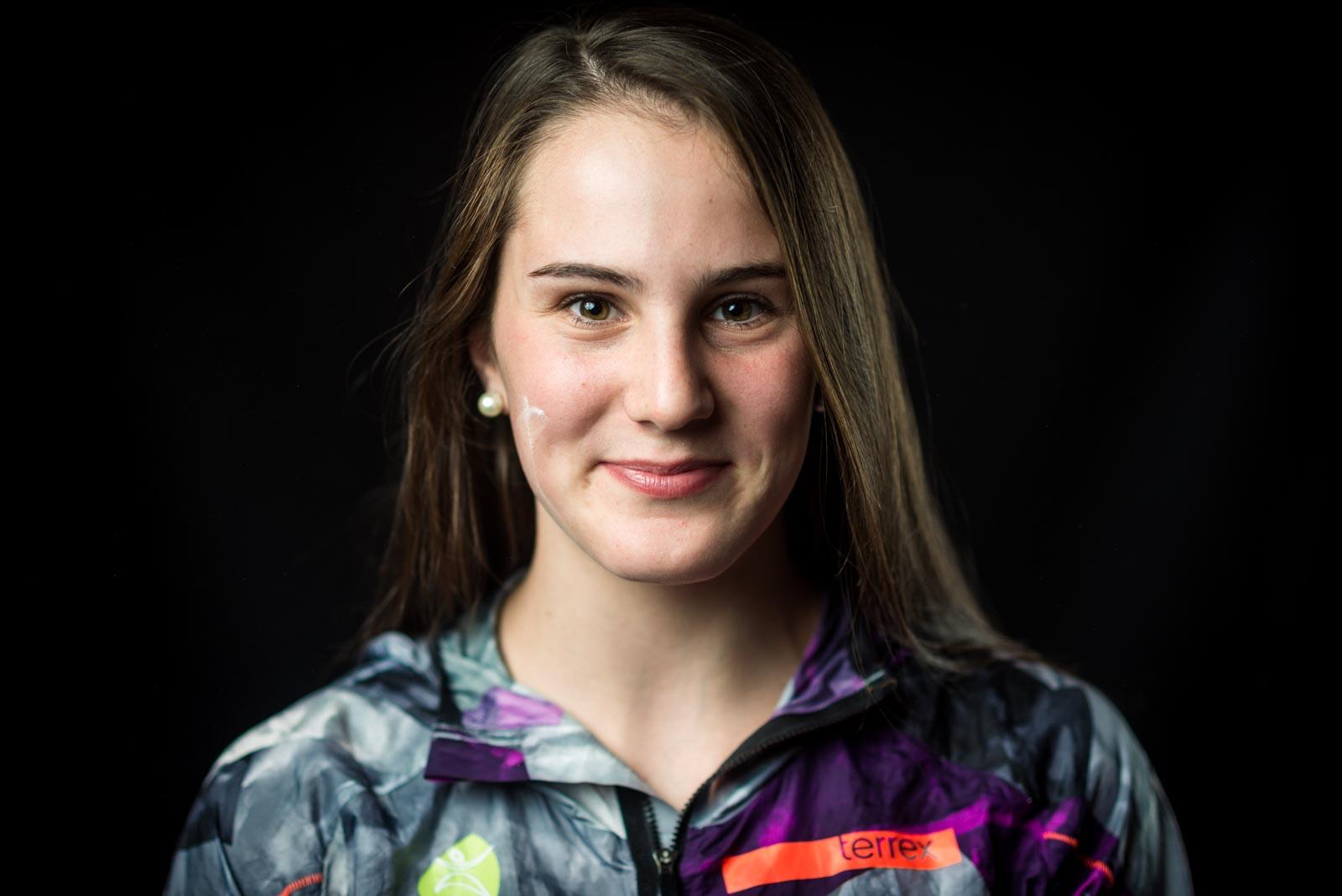 Portrait of Slovenian climber Julia Kruder
