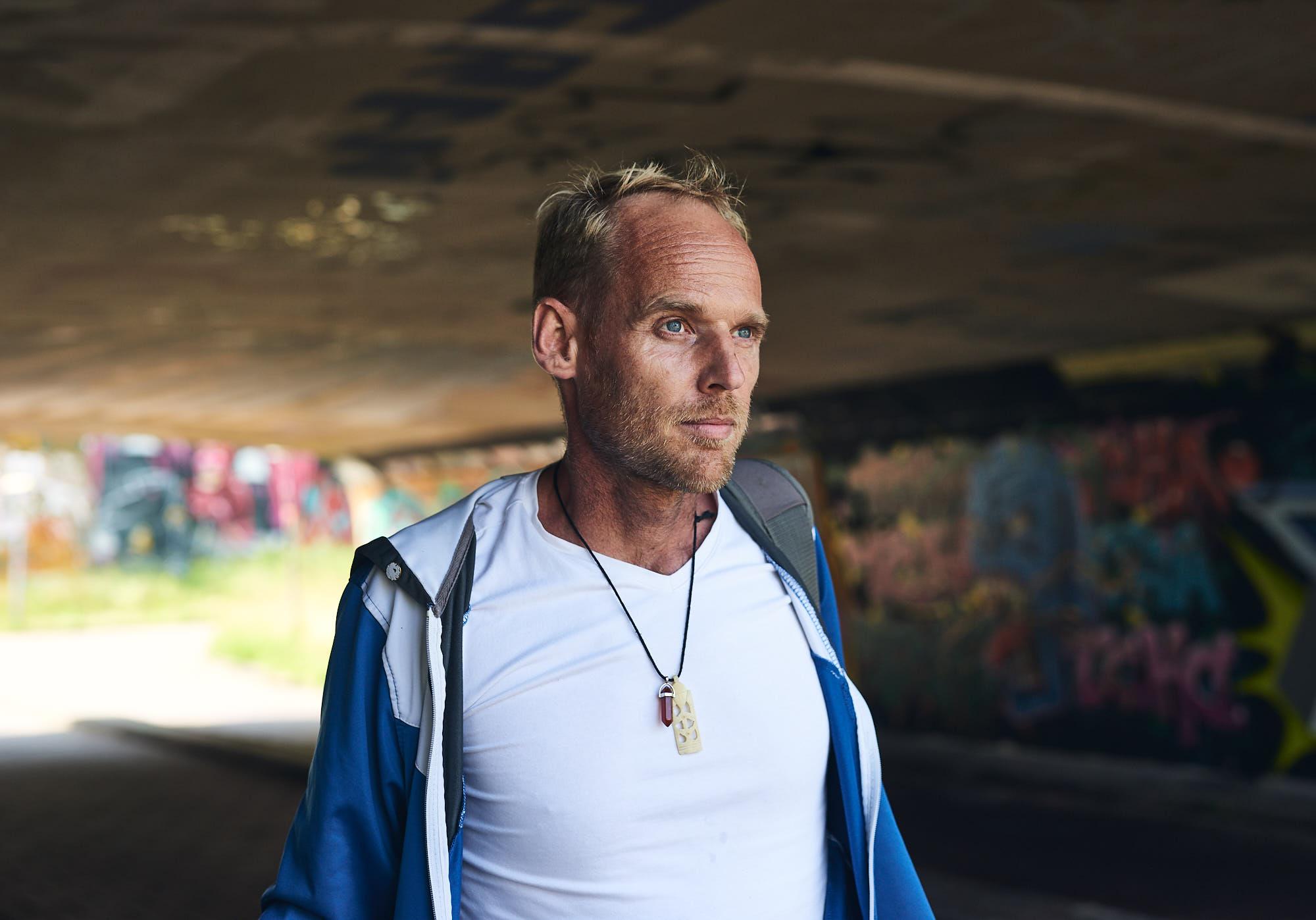 Portrait of graffiti artist Emil van der Wijst