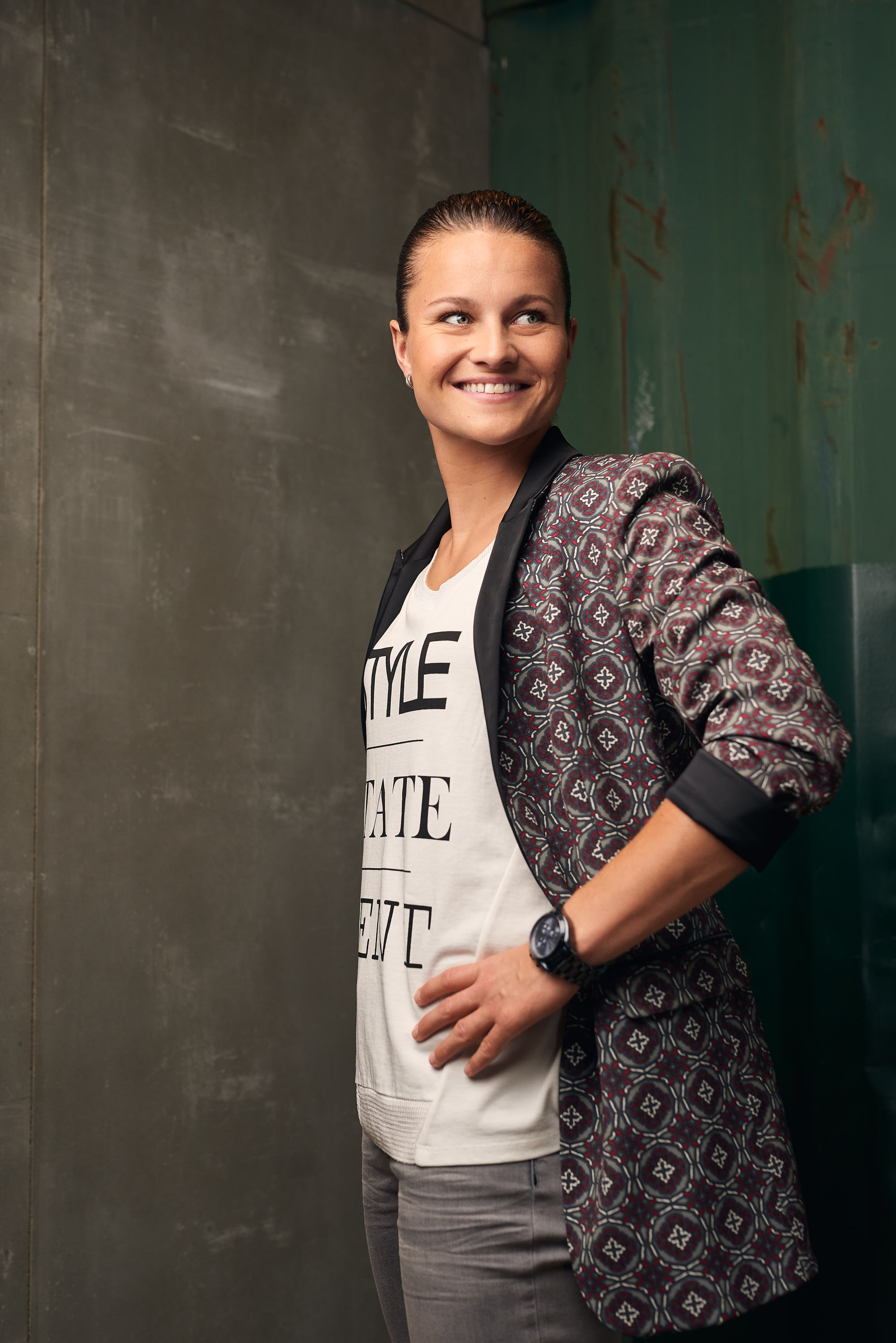 Dutch football star Sherida Spitse for Expresso fashion