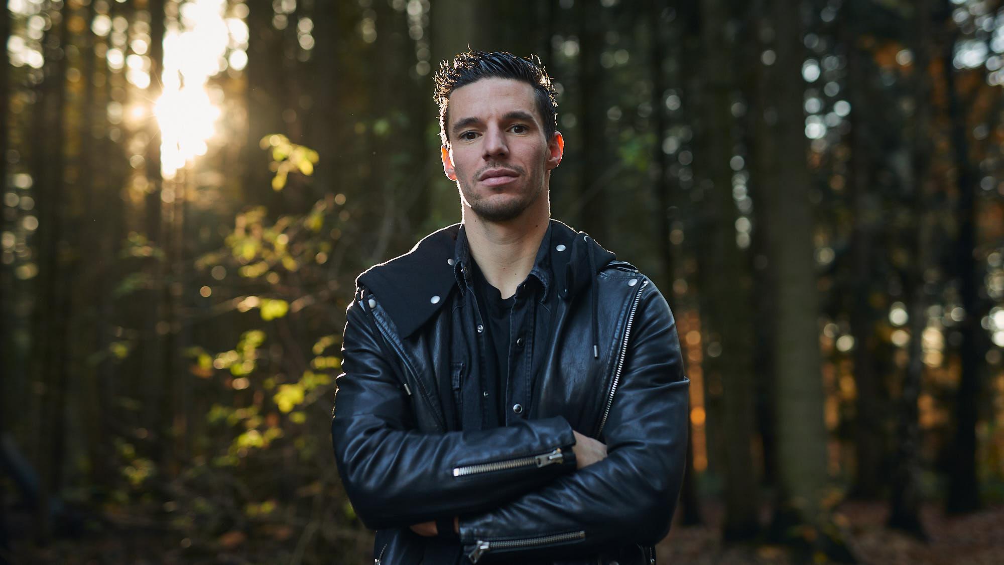 Portrait of PSV Eindhoven defender Nick Viergever