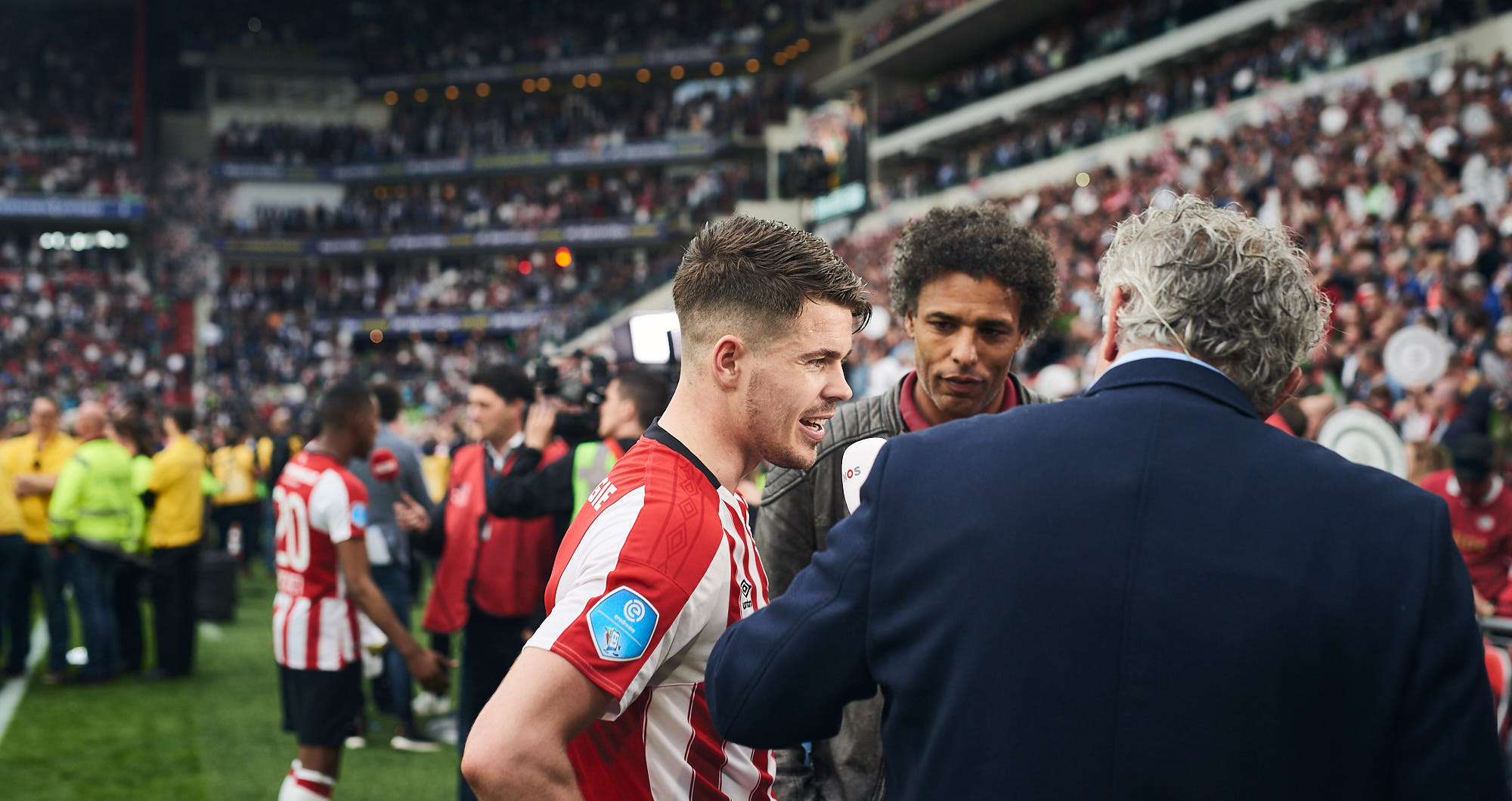 Captain Marco van Ginkel gives an interview in the Philips Stadium