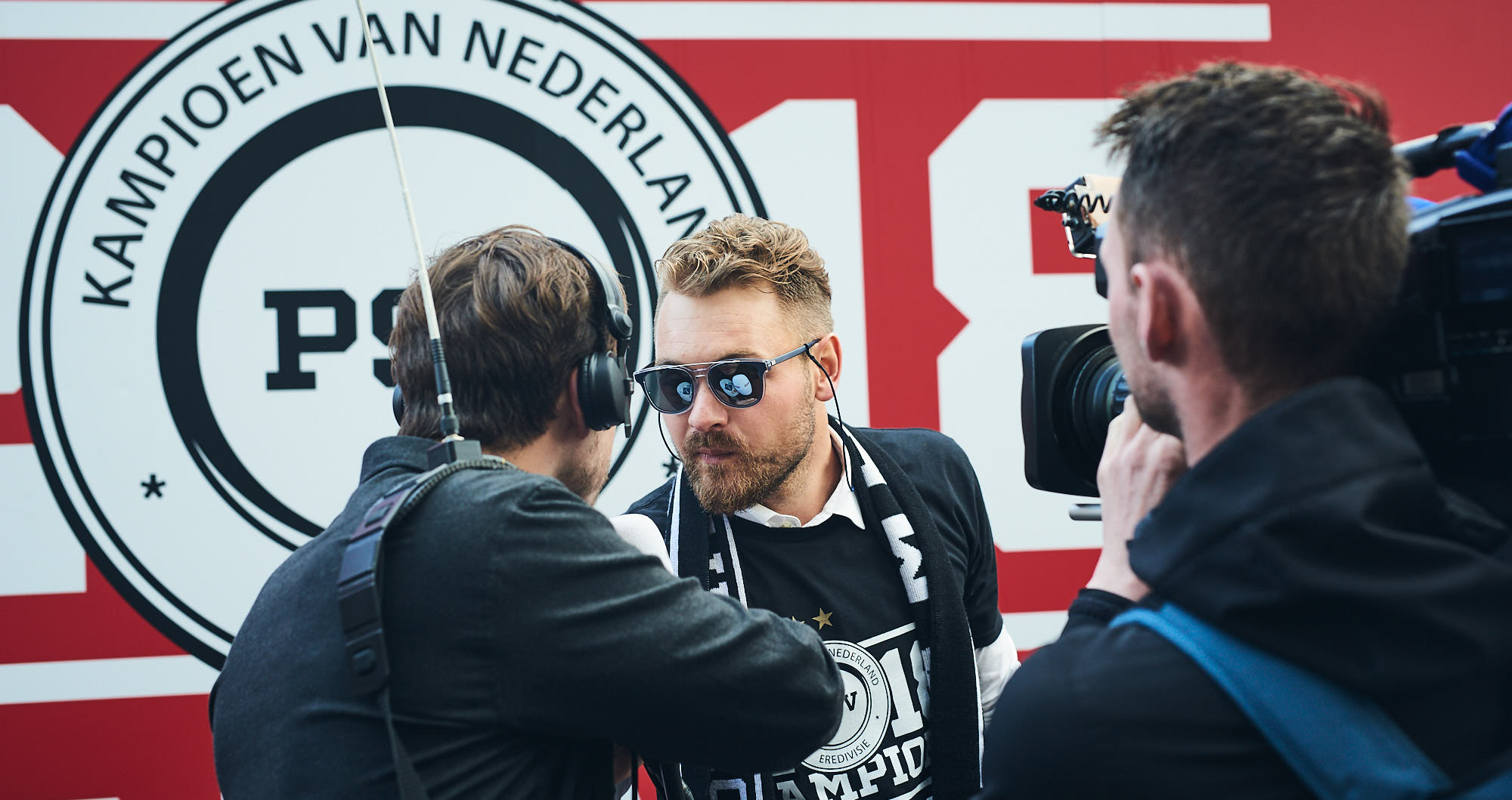 PSV Eindhoven goalkeeper Jeroen Zoet during an interview