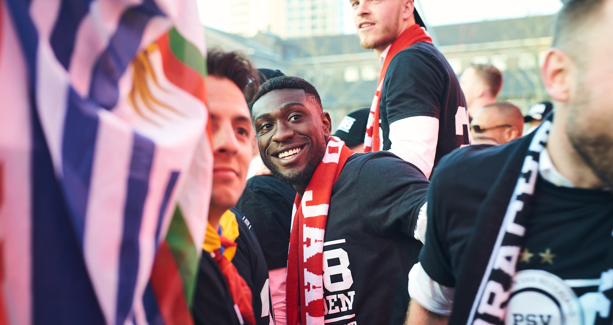 Derrick Luckassen during PSV Eindhoven's title celebrations