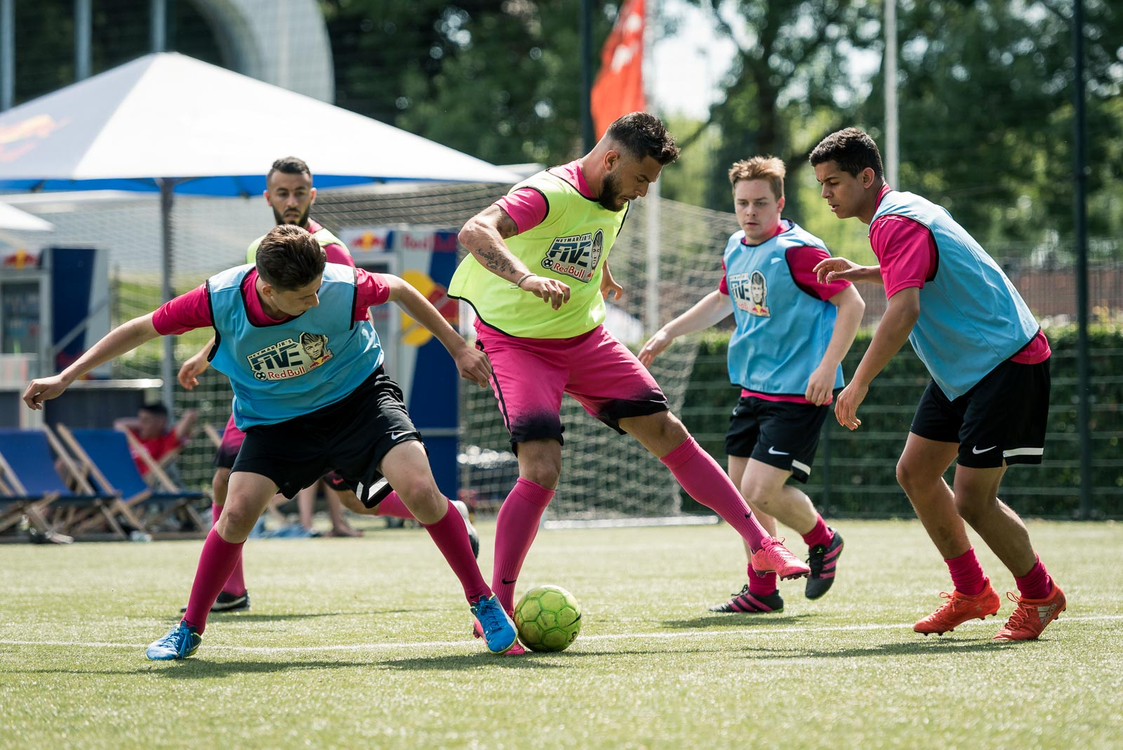 Football action during Red Bull Neymar Jr's Five in Holland