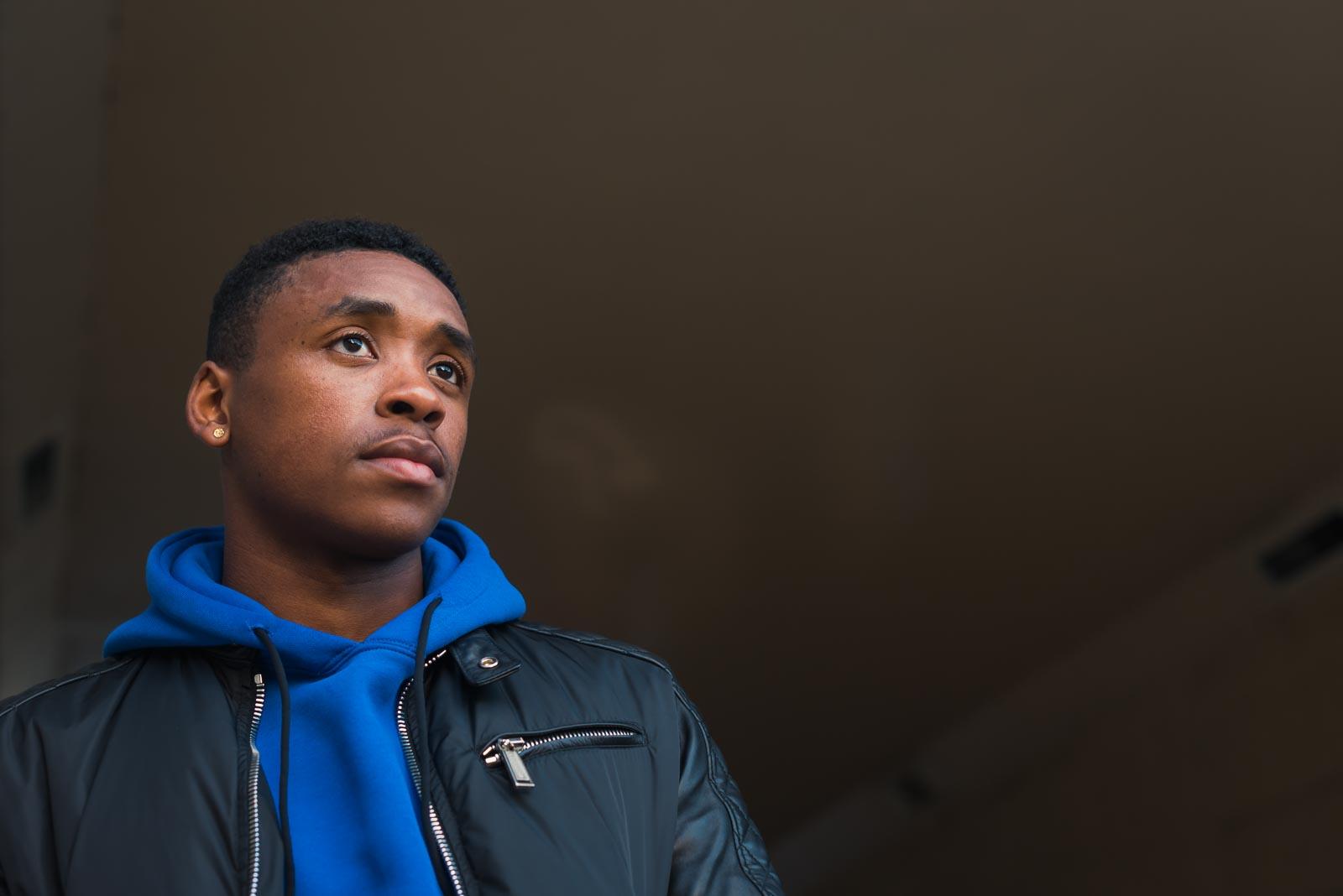 Portrait of PSV Eindhoven winger Steven Bergwijn