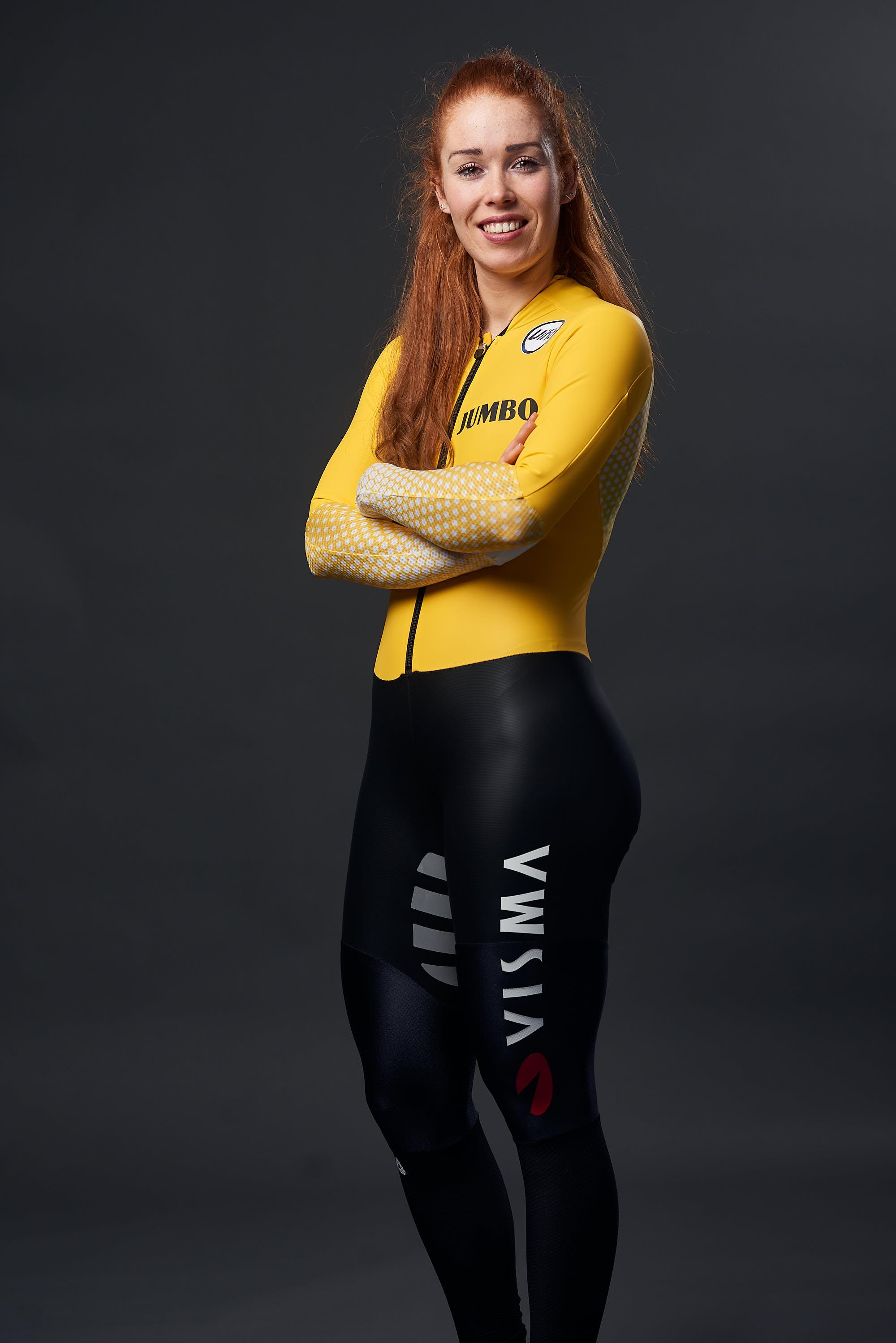 Portrait of Team Jumbo-Visma Ice skater Antoinette de Jong