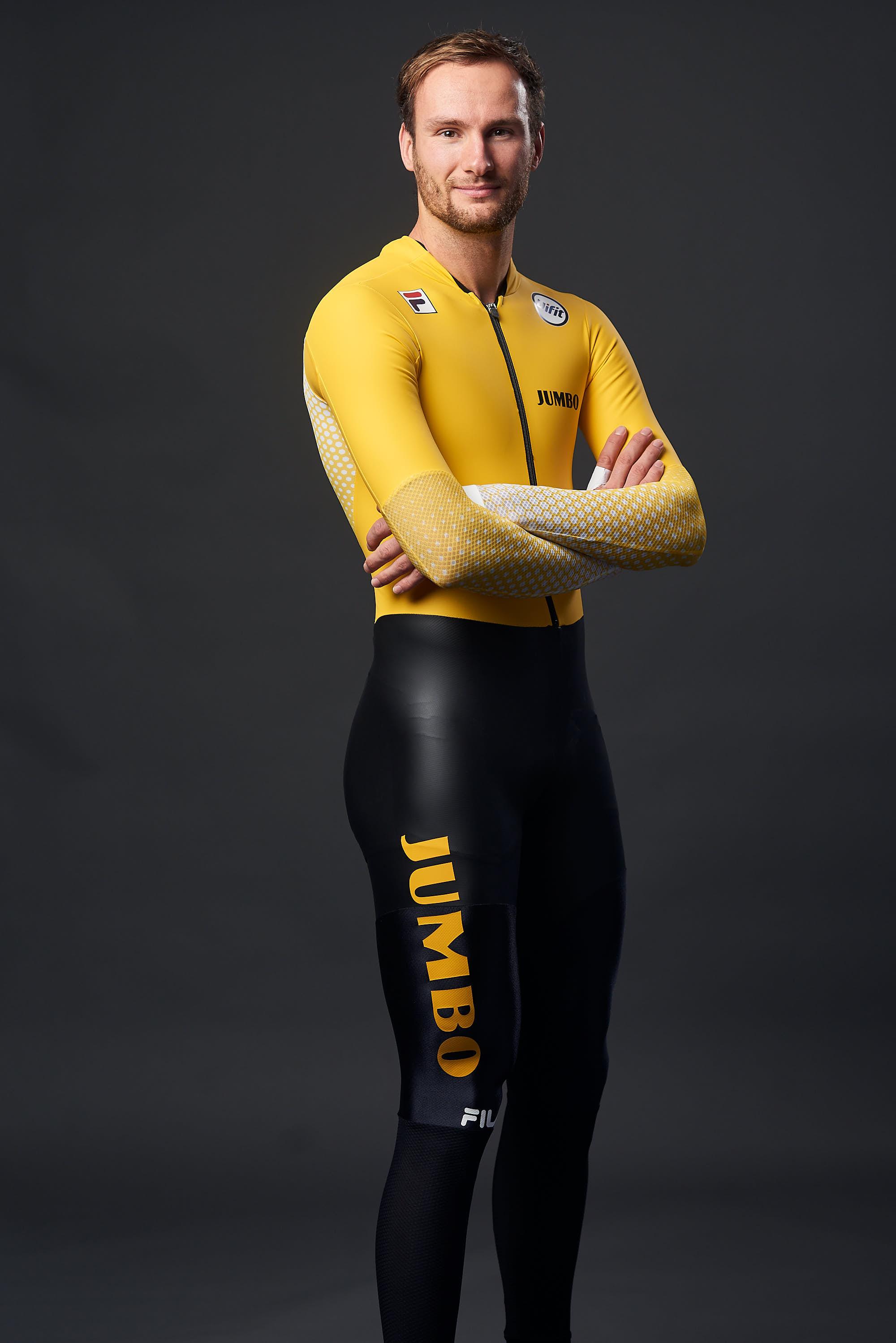 Portrait of Team Jumbo-Visma Ice's skater Thomas Krol