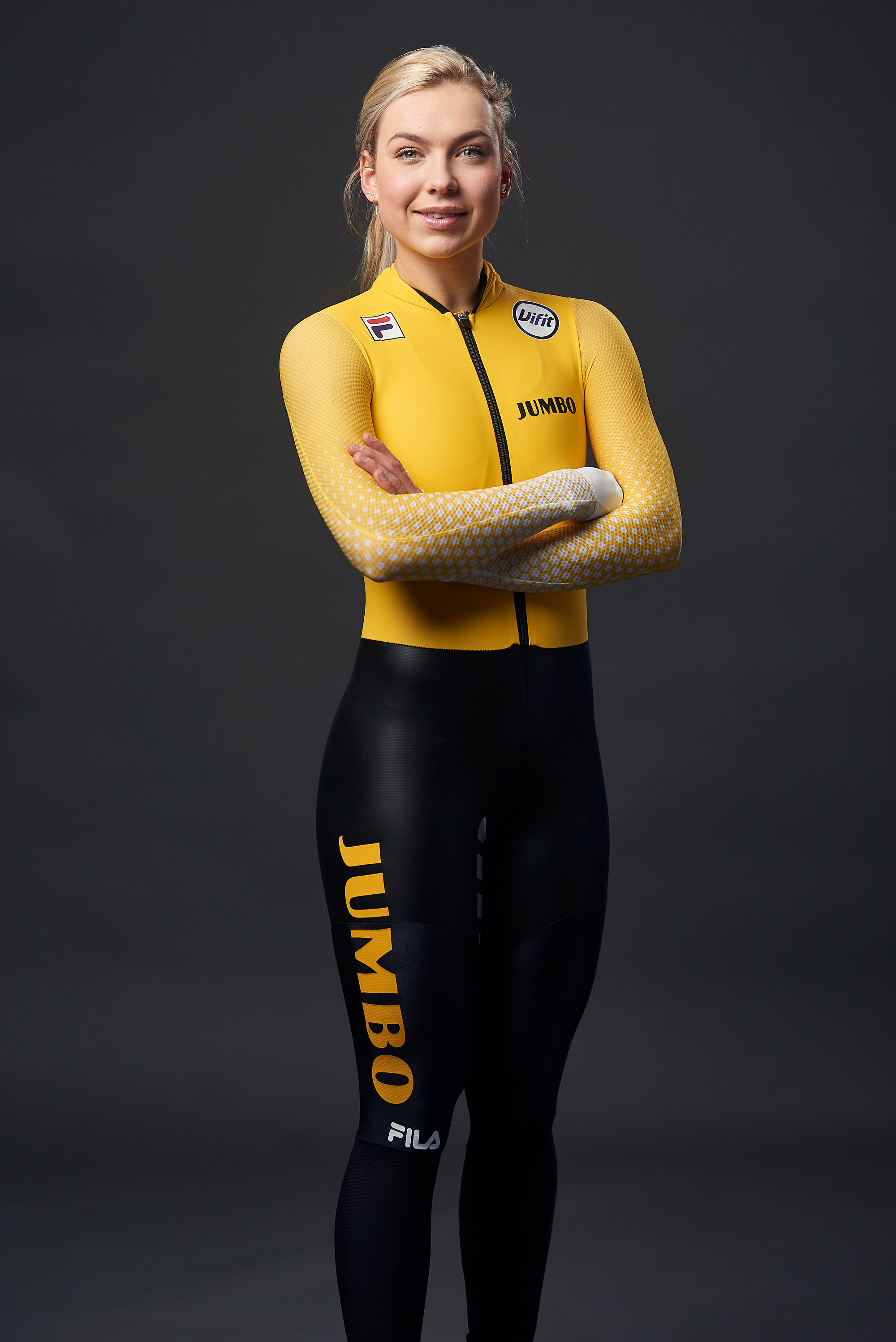 Portrait of Jumbo-Visma's ice skating team's Joy Beune