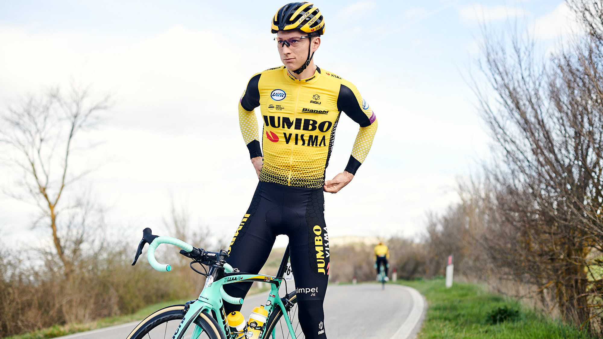 Jumbo-Visma rider Nielson Powless during recon