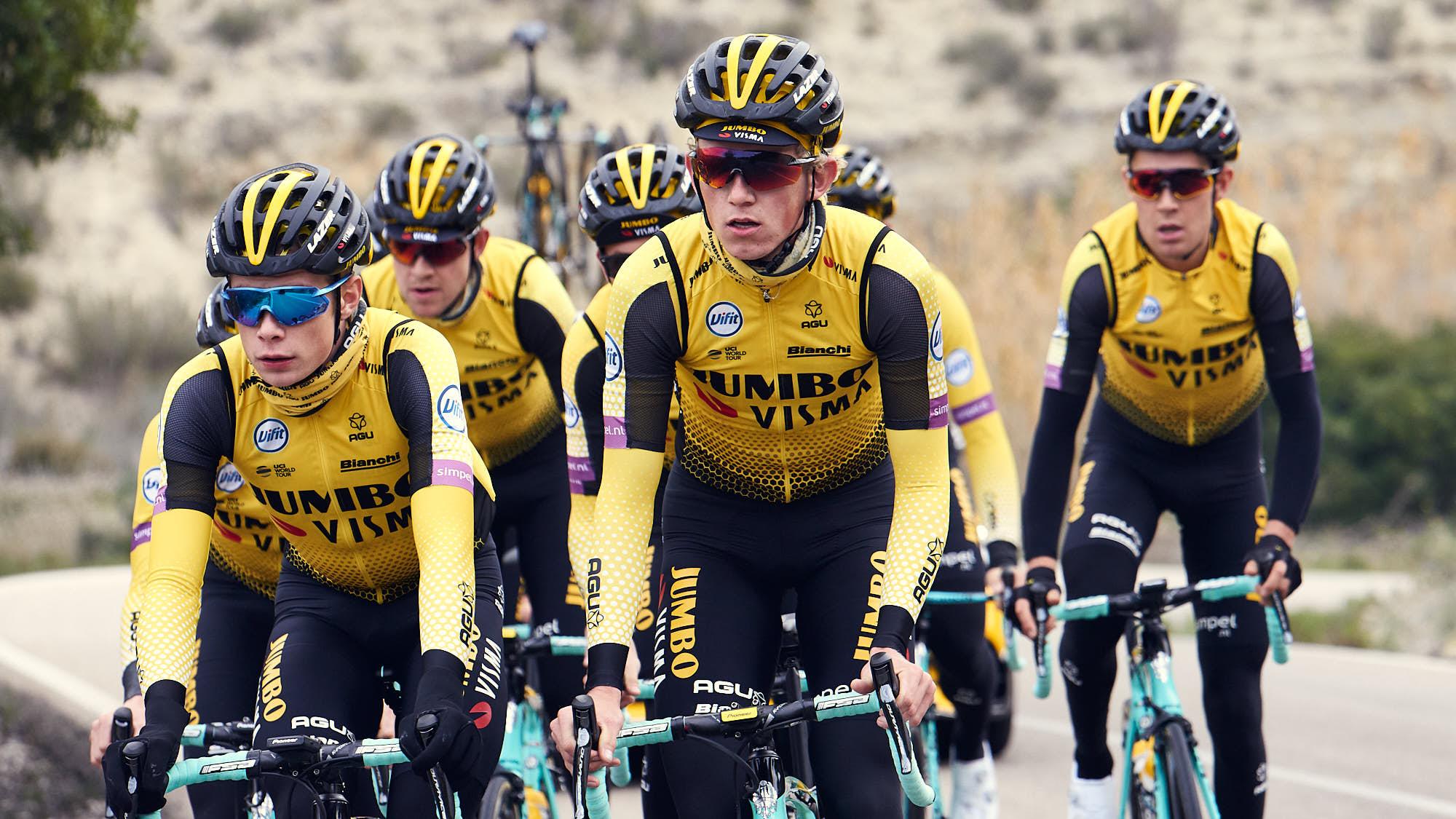 Jumbo-Visma rider Koen Bouwman training in Alicante