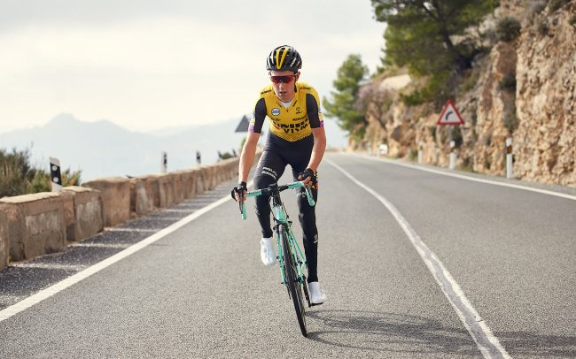 Jumbo-Visma cyclist Daan Olivier during training in Alicante