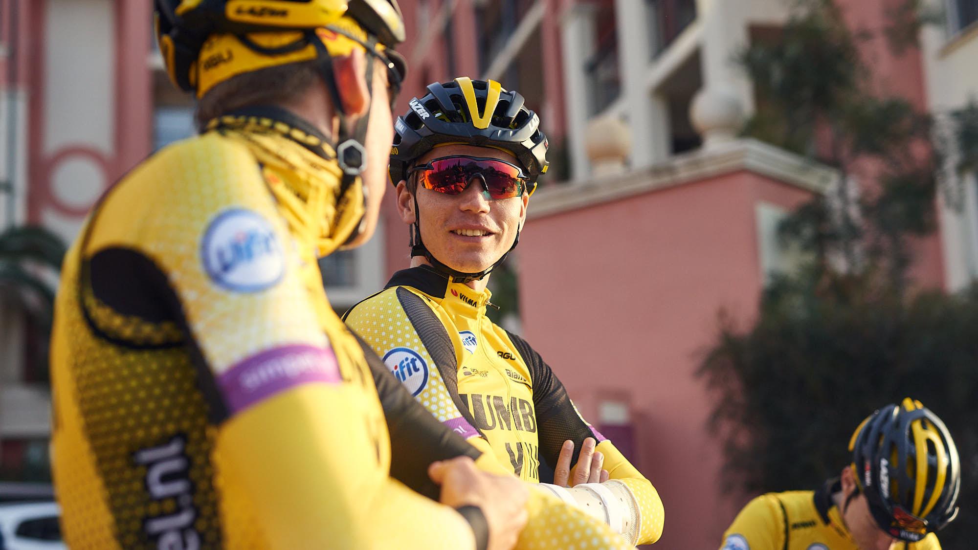 Jumbo-Visma's Norwegian cyclist Amund Grøndahl Jansen before training in Alicante
