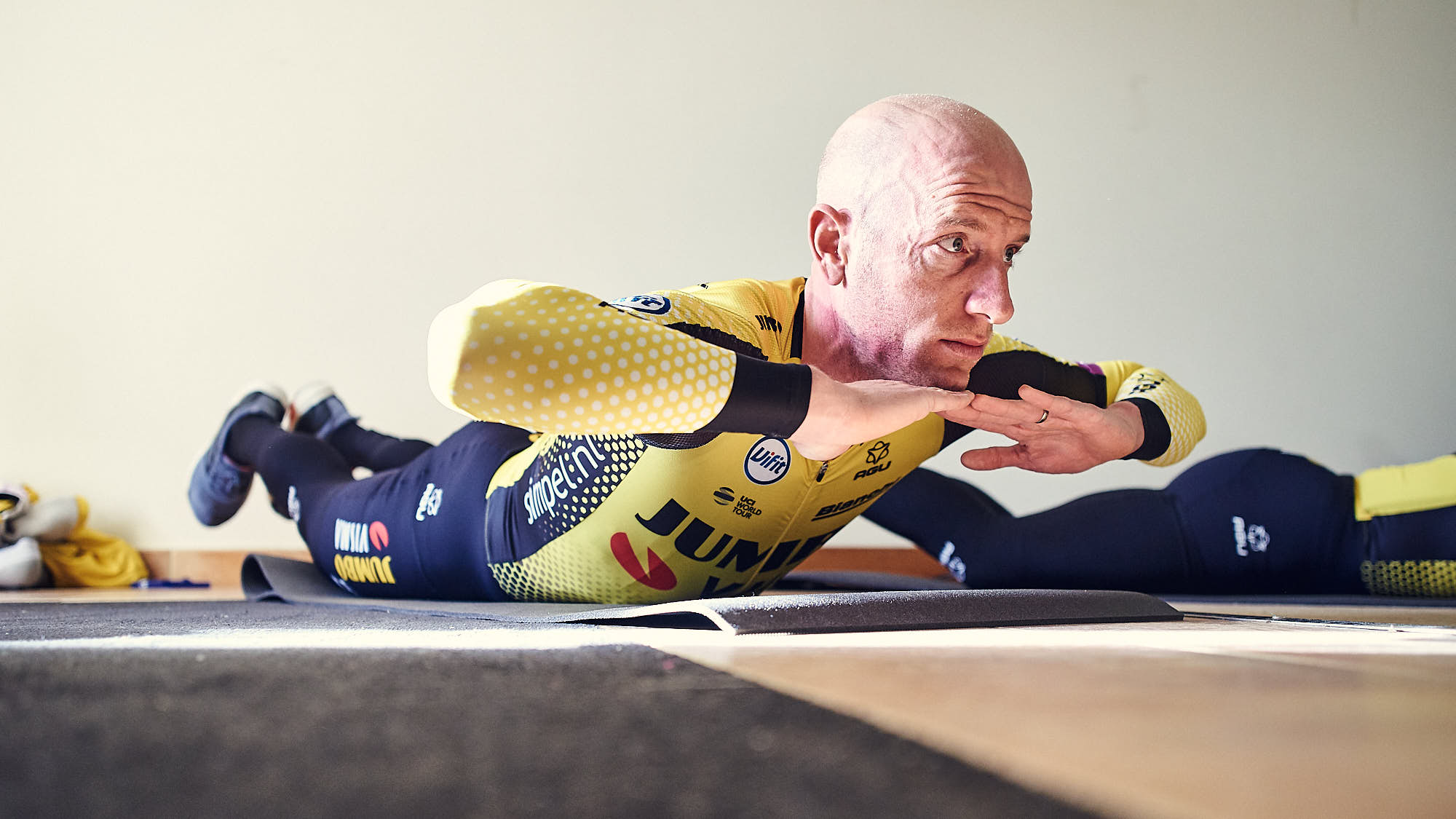 Jumbo-Visma cyclist Jos van Emden working out