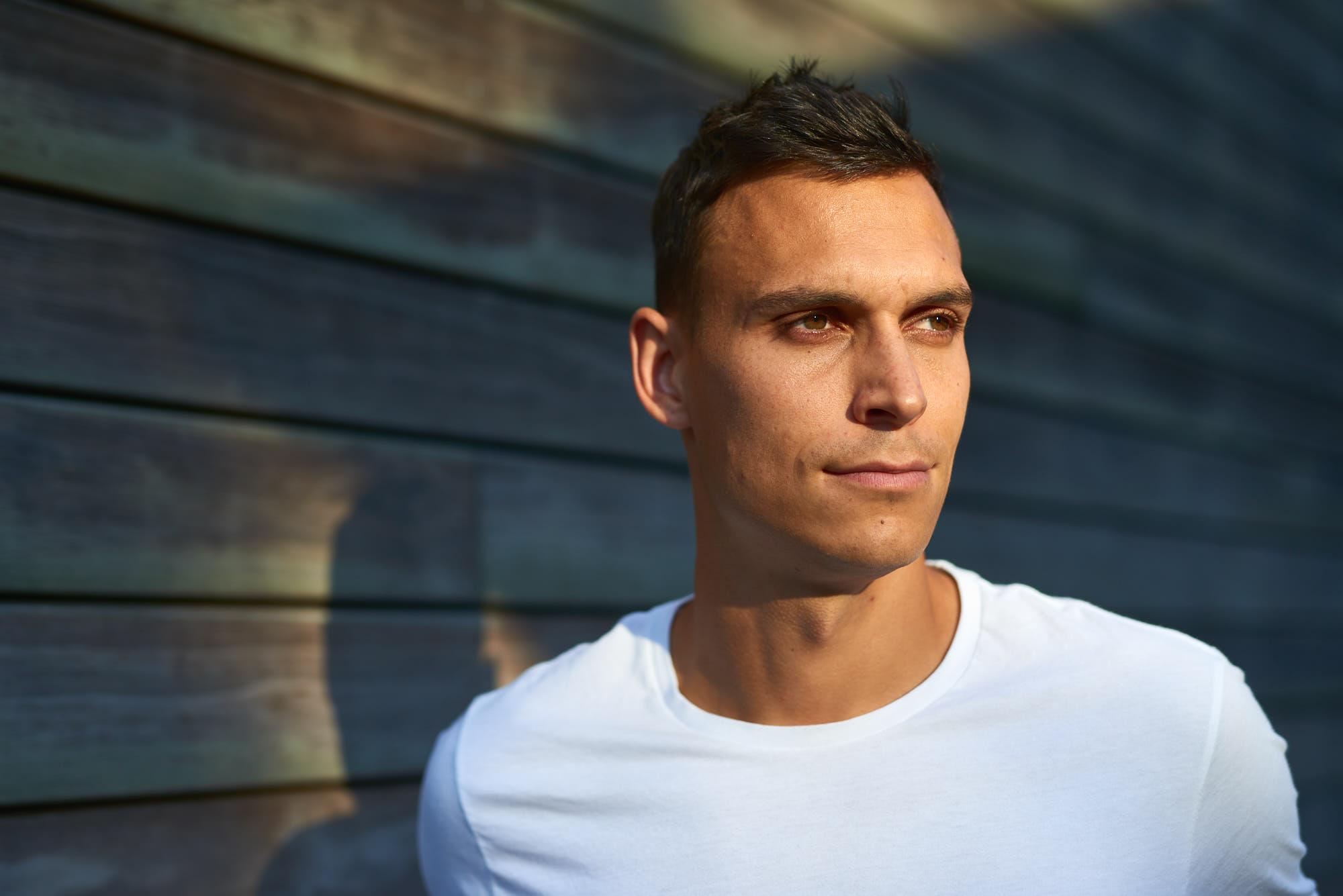 Portrait of PSV Eindhoven defender Trent Sainsbury