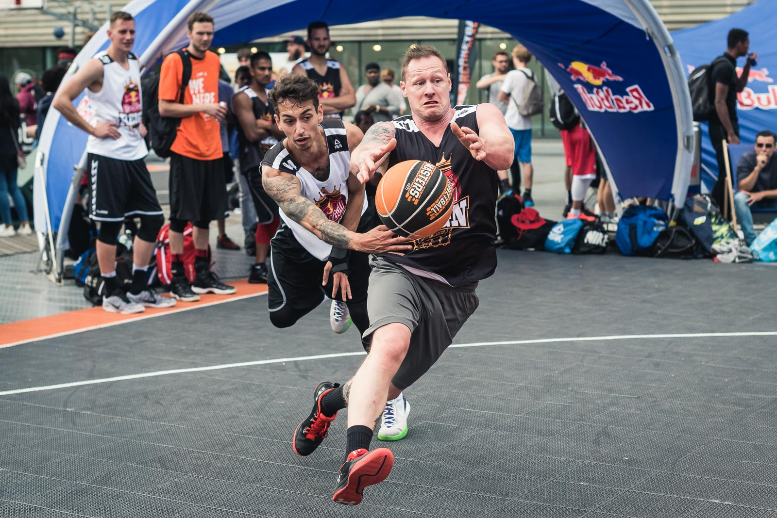 Action shot during Red Bull Reign basketball tournament in Rotterdam