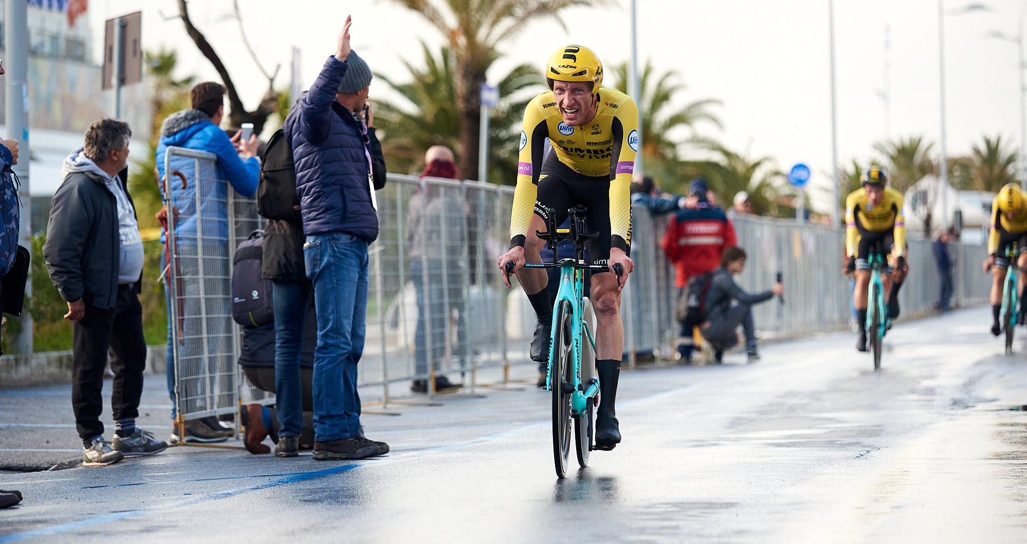 Jos van Emden just after finishing the team time trial in Tirreno-Adriatico