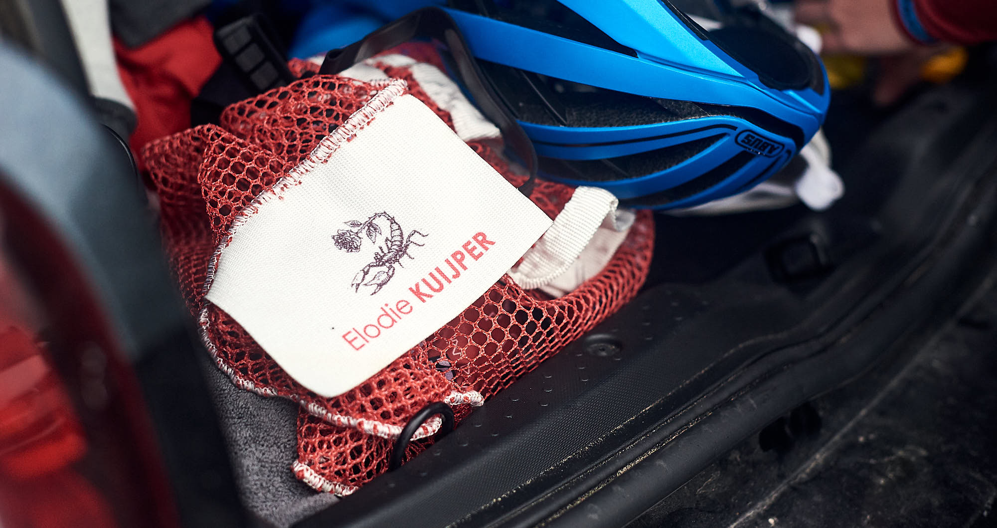 Cyclist's washing bag