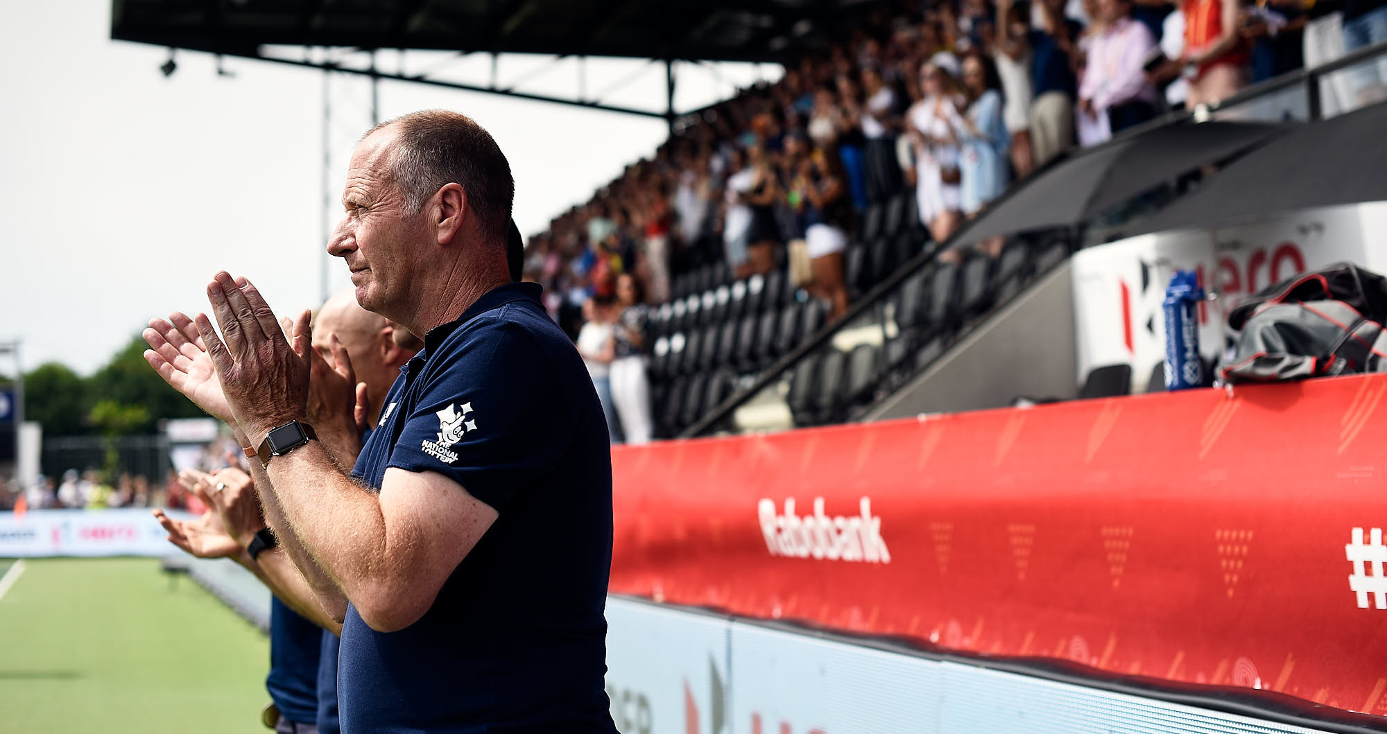 England national hockey team coach during 2019 FIH Pro League Finals in Amsterdam