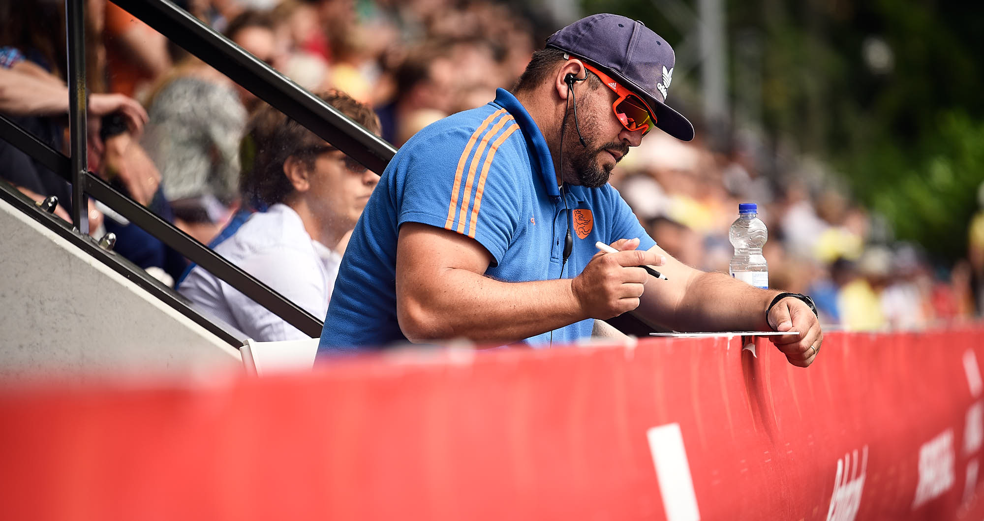 Dutch national hockey team coach during the 2019 FIH Pro League Finals in Amsterdam