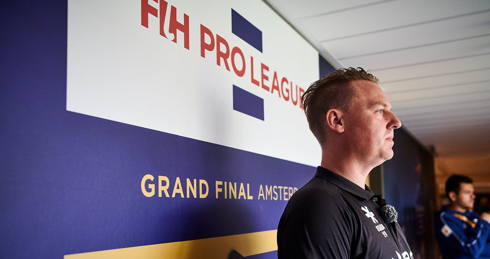 FIH refere during Pro League finals in Amsterdam