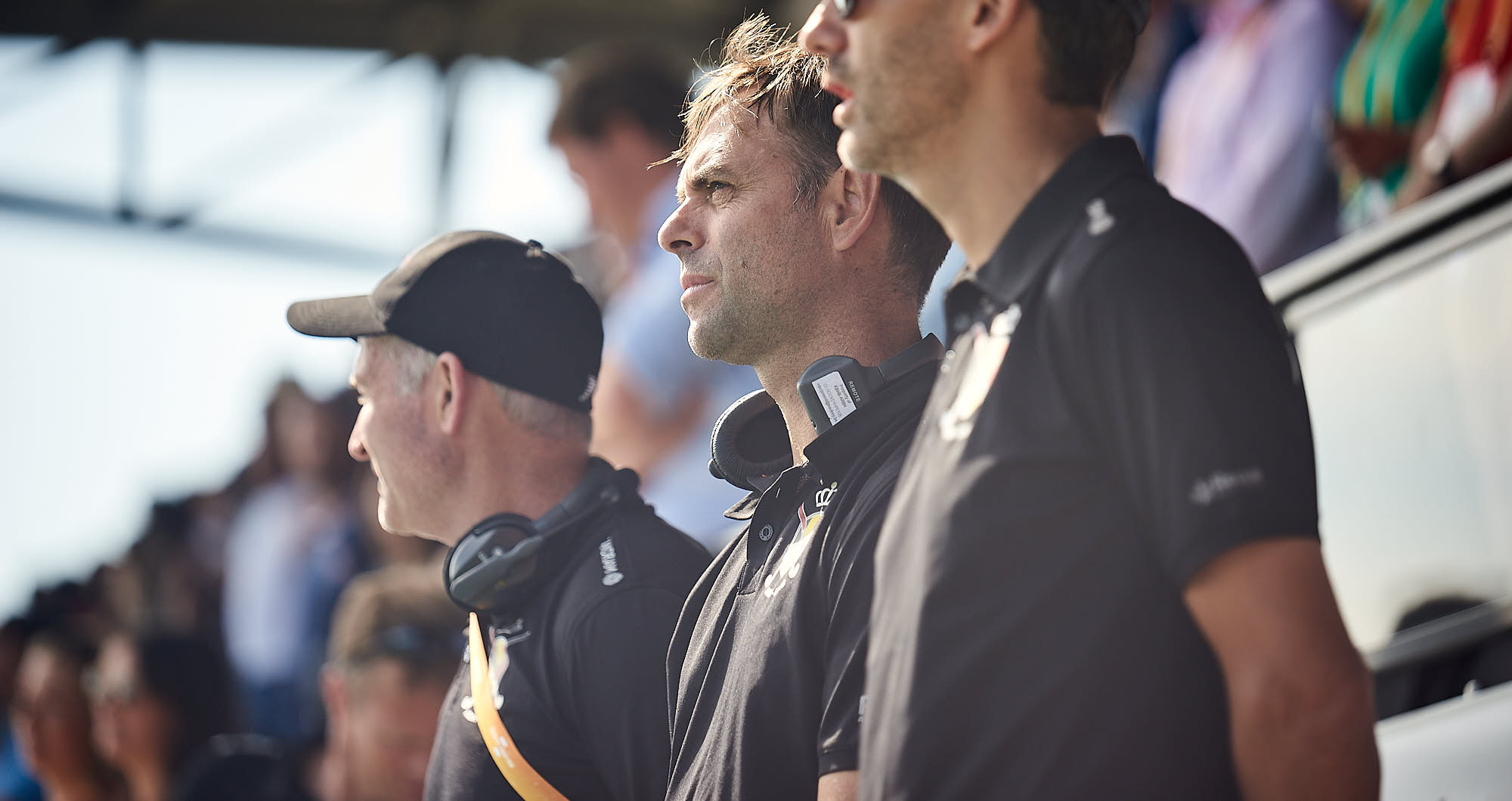 Belgian national hockey team coach during the 2019 FIH Pro League Finals in Amsterdam