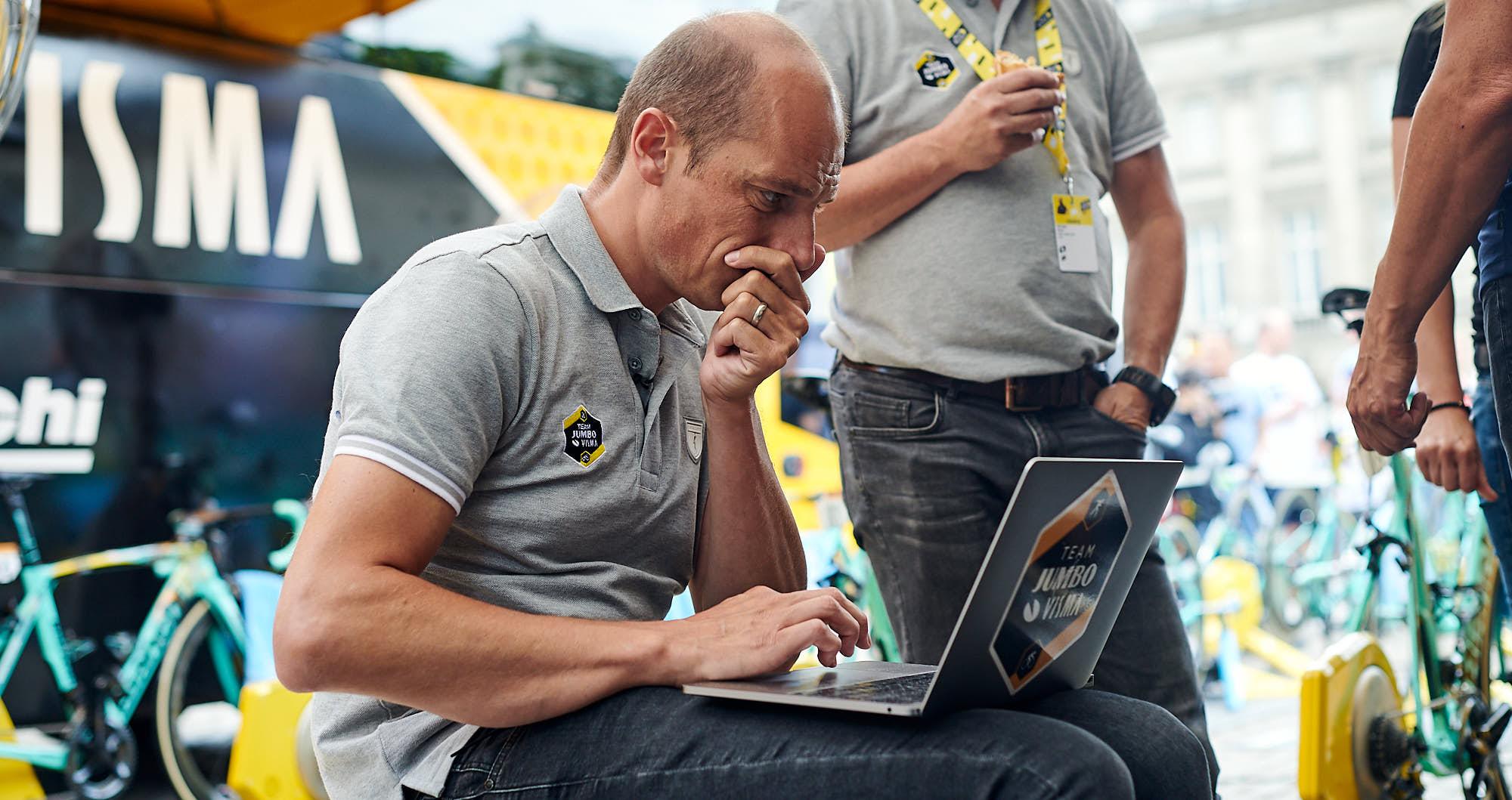 Head of performance at Jumbo-Visma Mathieu Heijboer during the 2019 Tour de France