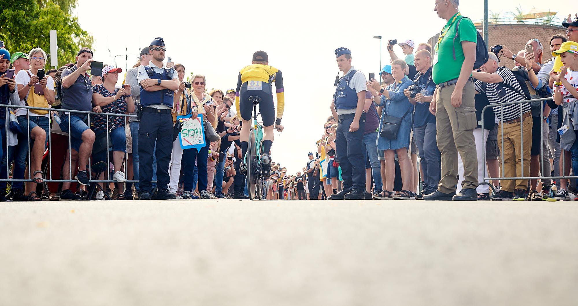Jumbo-Visma cyclist Steven Kruiswijk in Brussels during the 2019 Tour de France