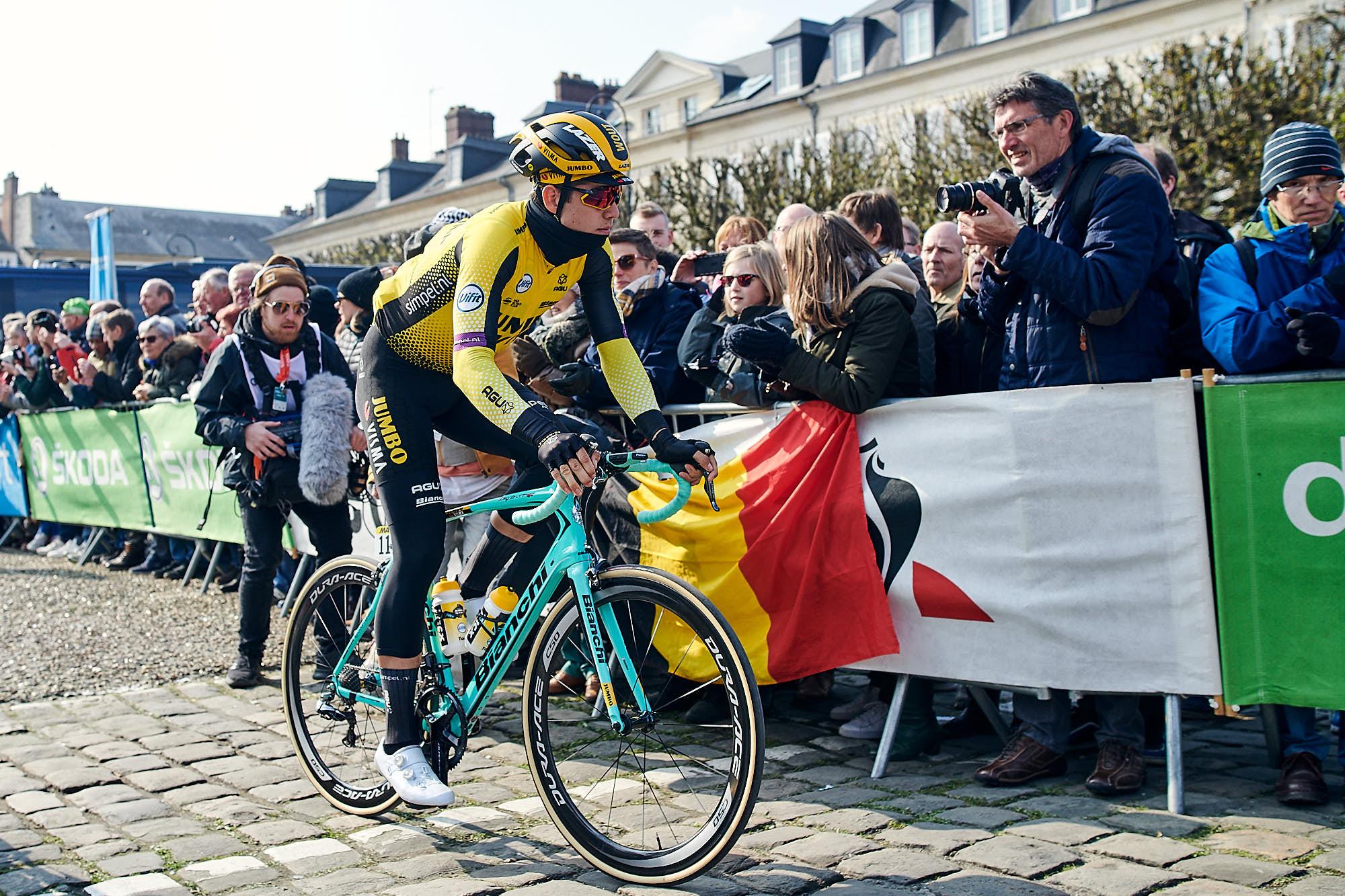 Wout van Aert just before the depart of Paris-Roubaix 2019