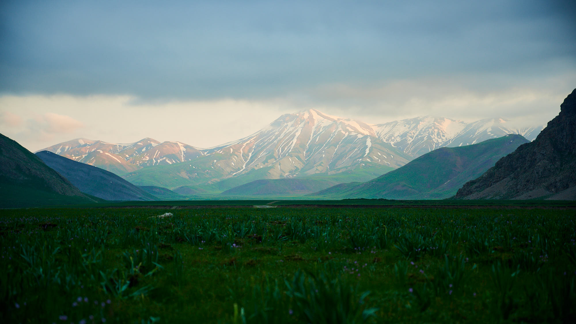 Moody landscape view of Dar valley in Iran