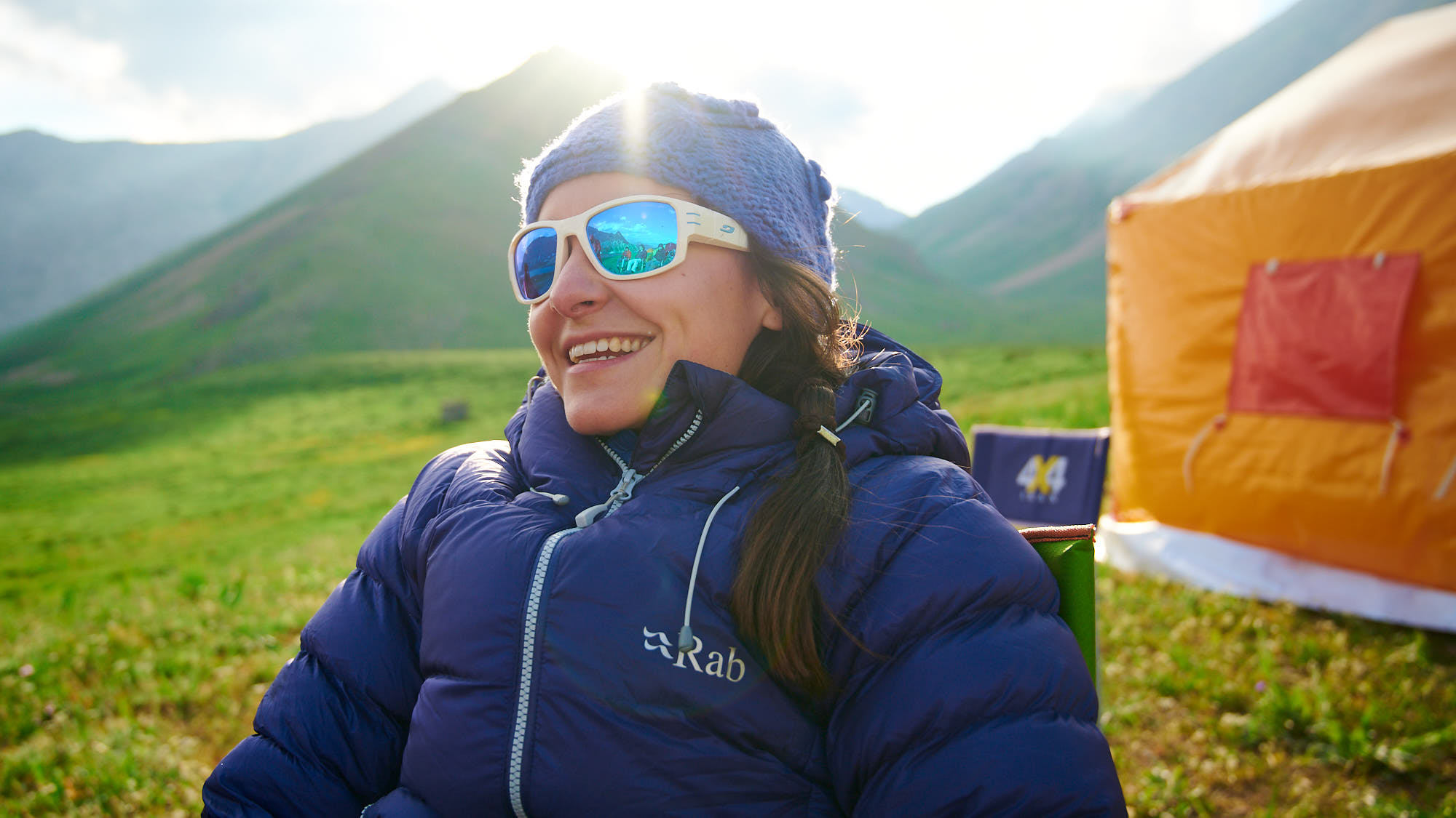 Mountain guide smiling in Dar valley in Iran