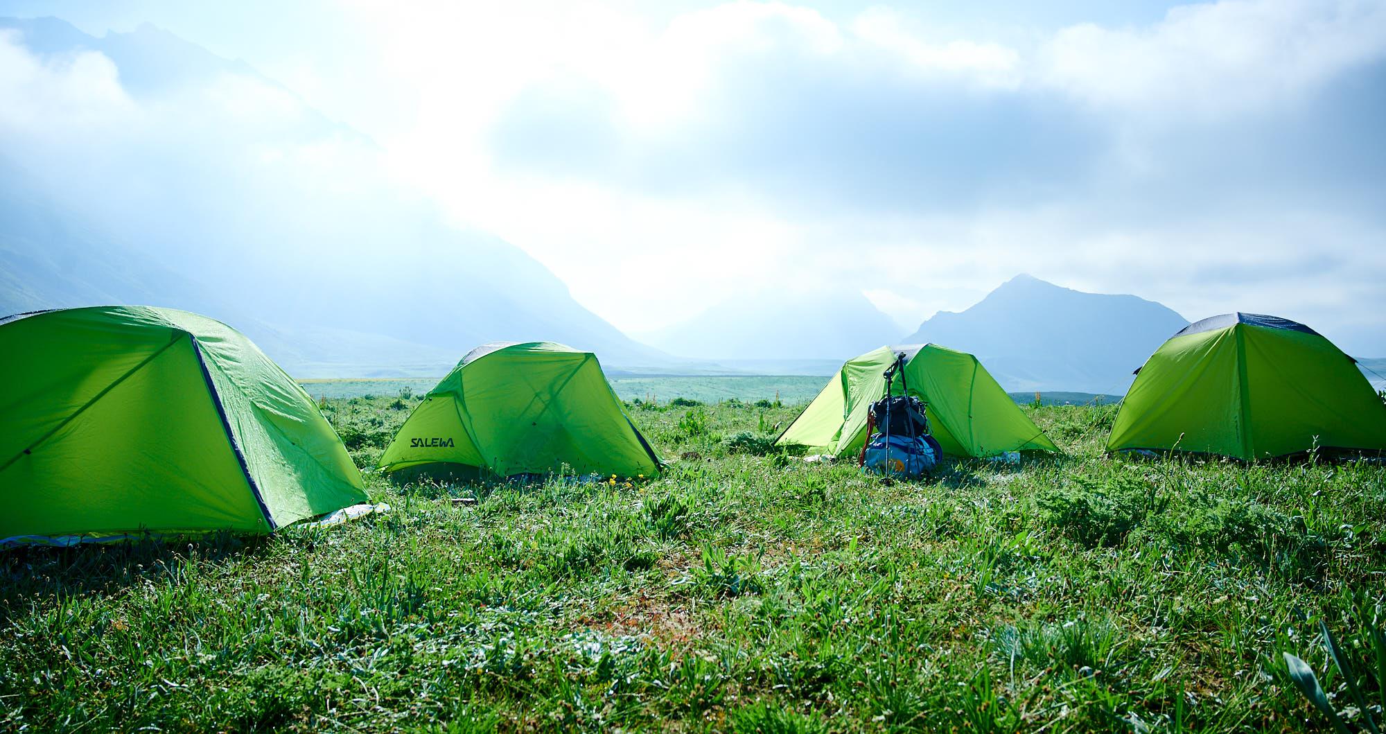 Tents in Dar valley in Iran