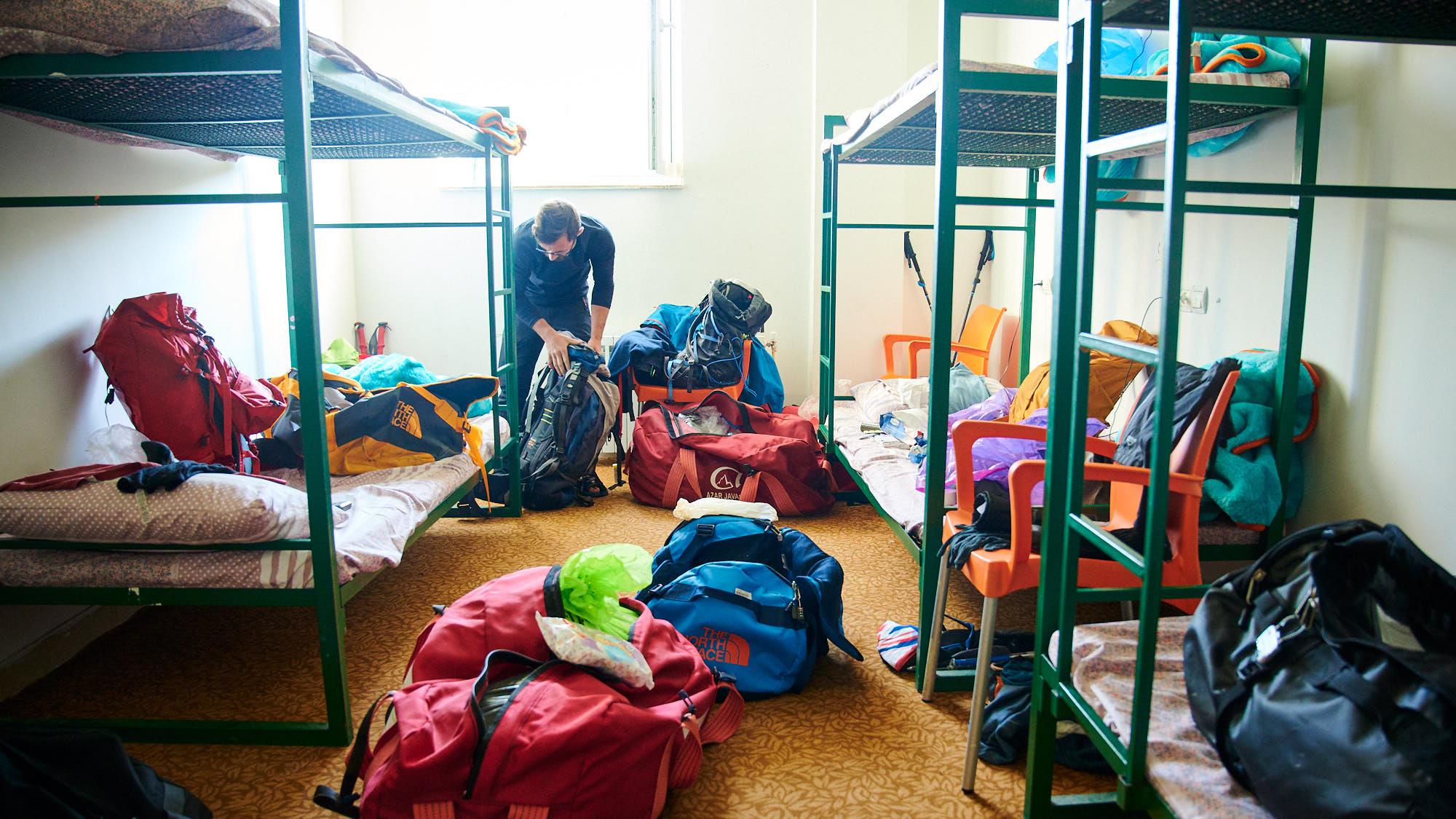 Sleeping bunks in Poulor, Iran