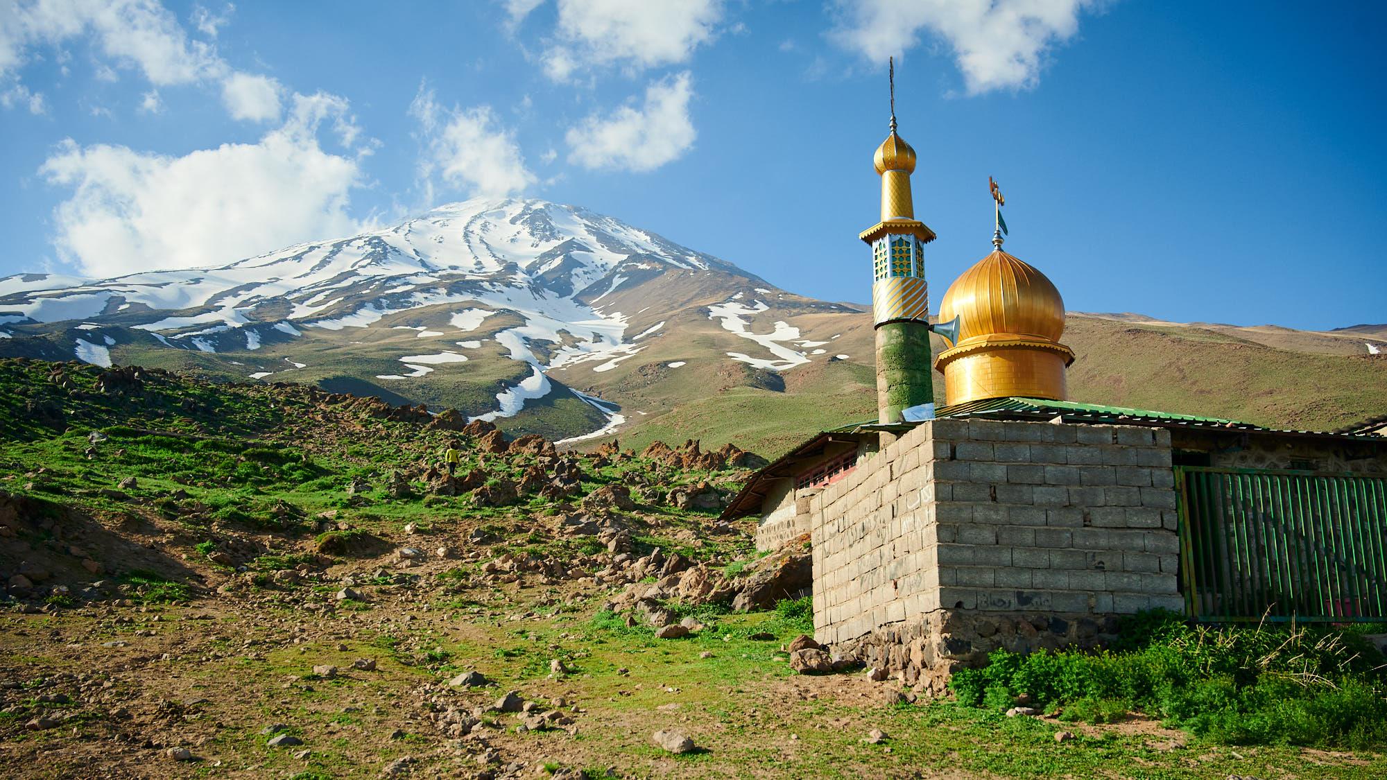 Former mosque in Mount Damavand base camp
