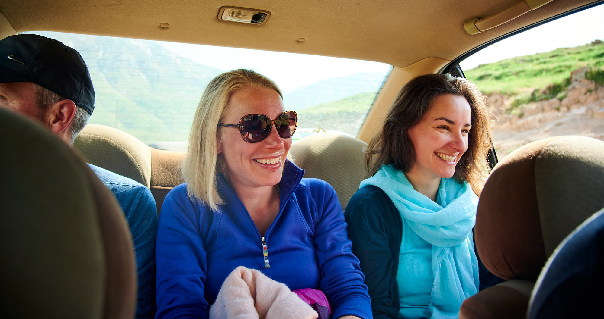 Mountaineers on a road trip in Iran