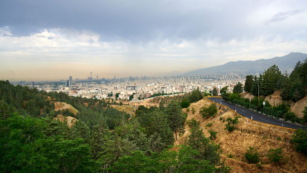 View of Tehran's skyline in Iran