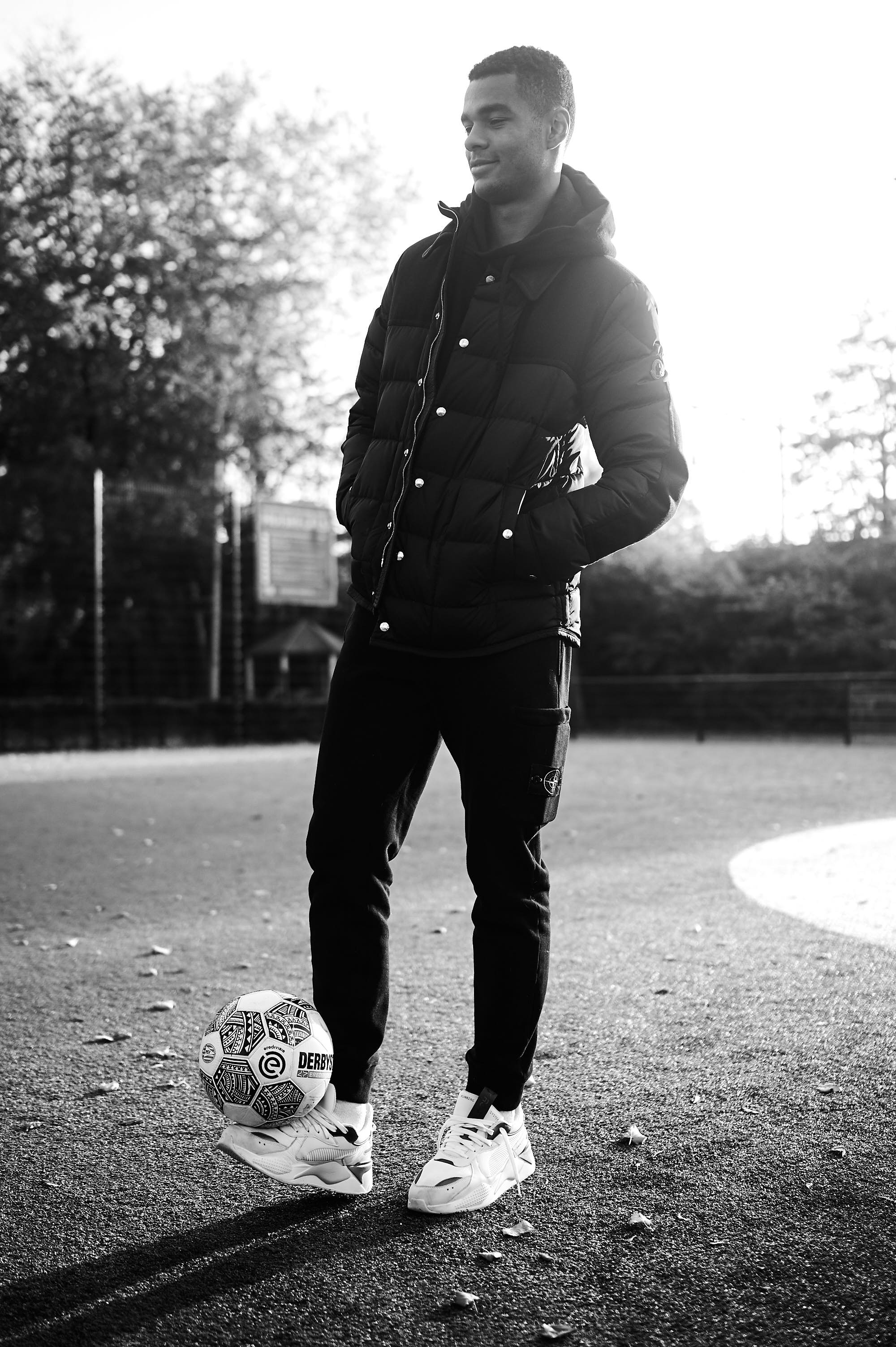 Cody Gakpo on a Cruyff Court in Woensel-West, Eindhoven, the Netherlands