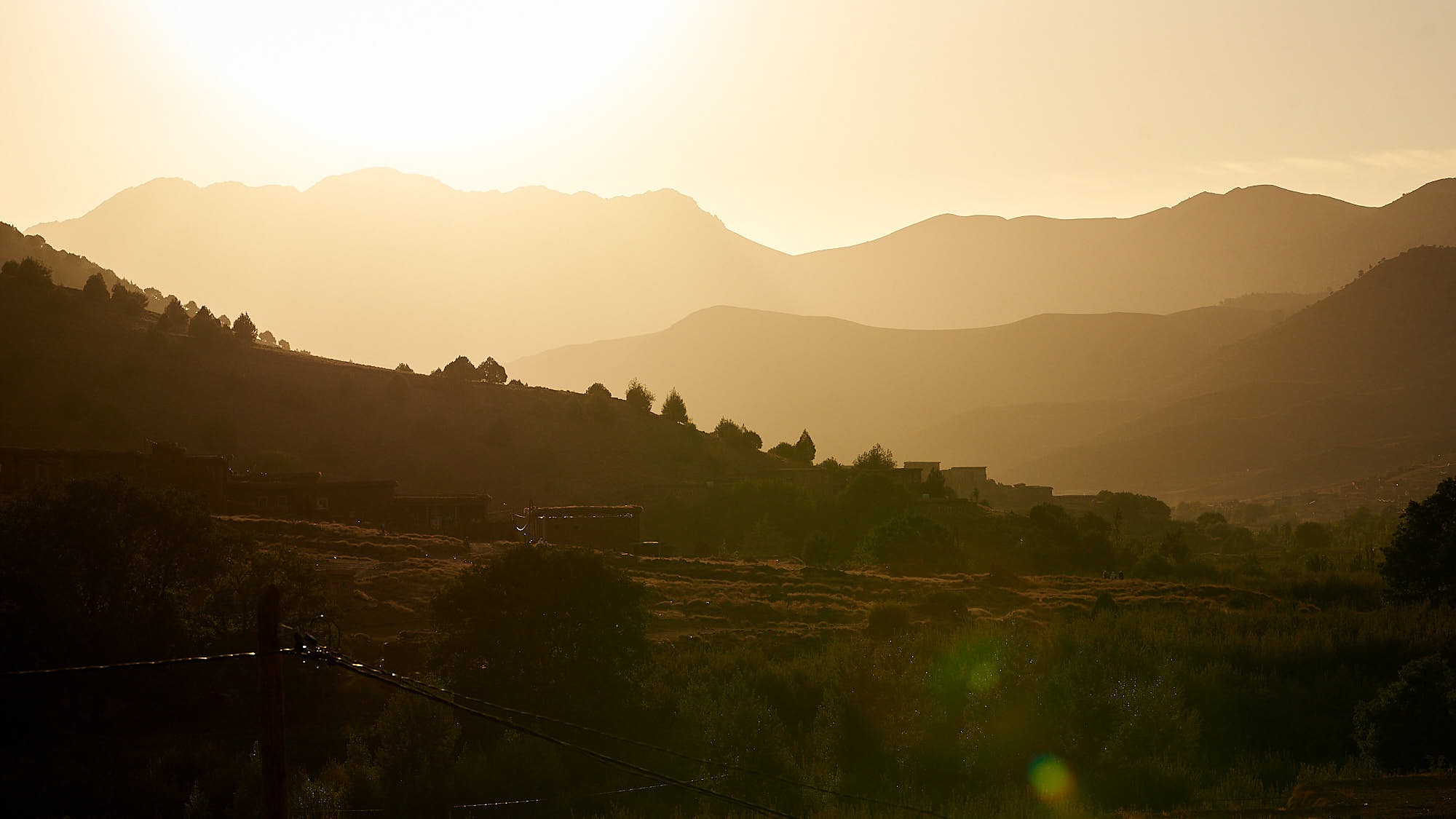 Sunrise in the Moroccon High Atlas