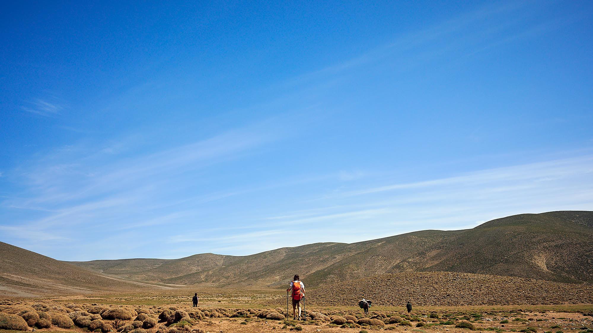 Hiking through Moroccan High Atlas