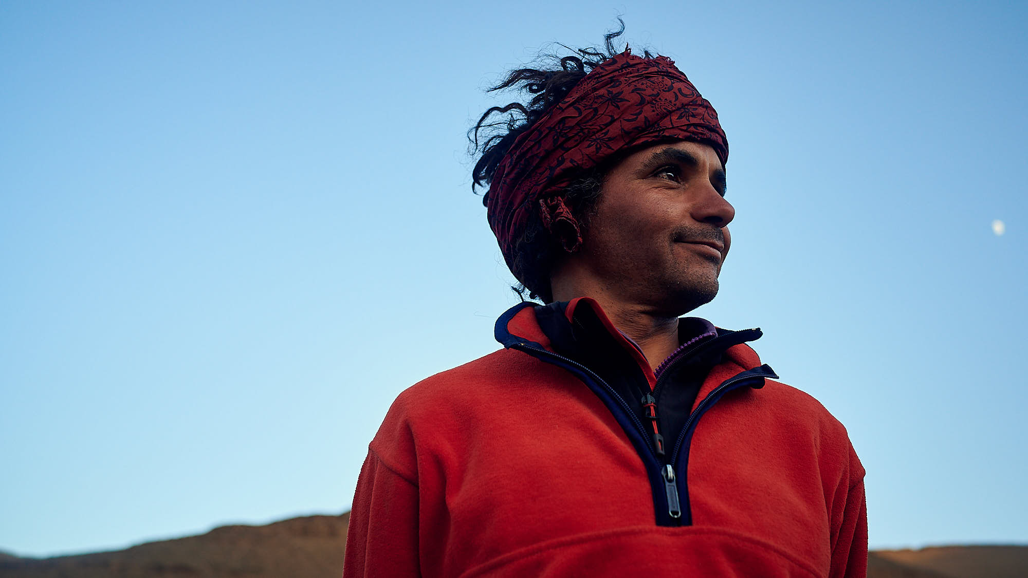 Portrait of a Moroccan mountain guide in the High Atlas