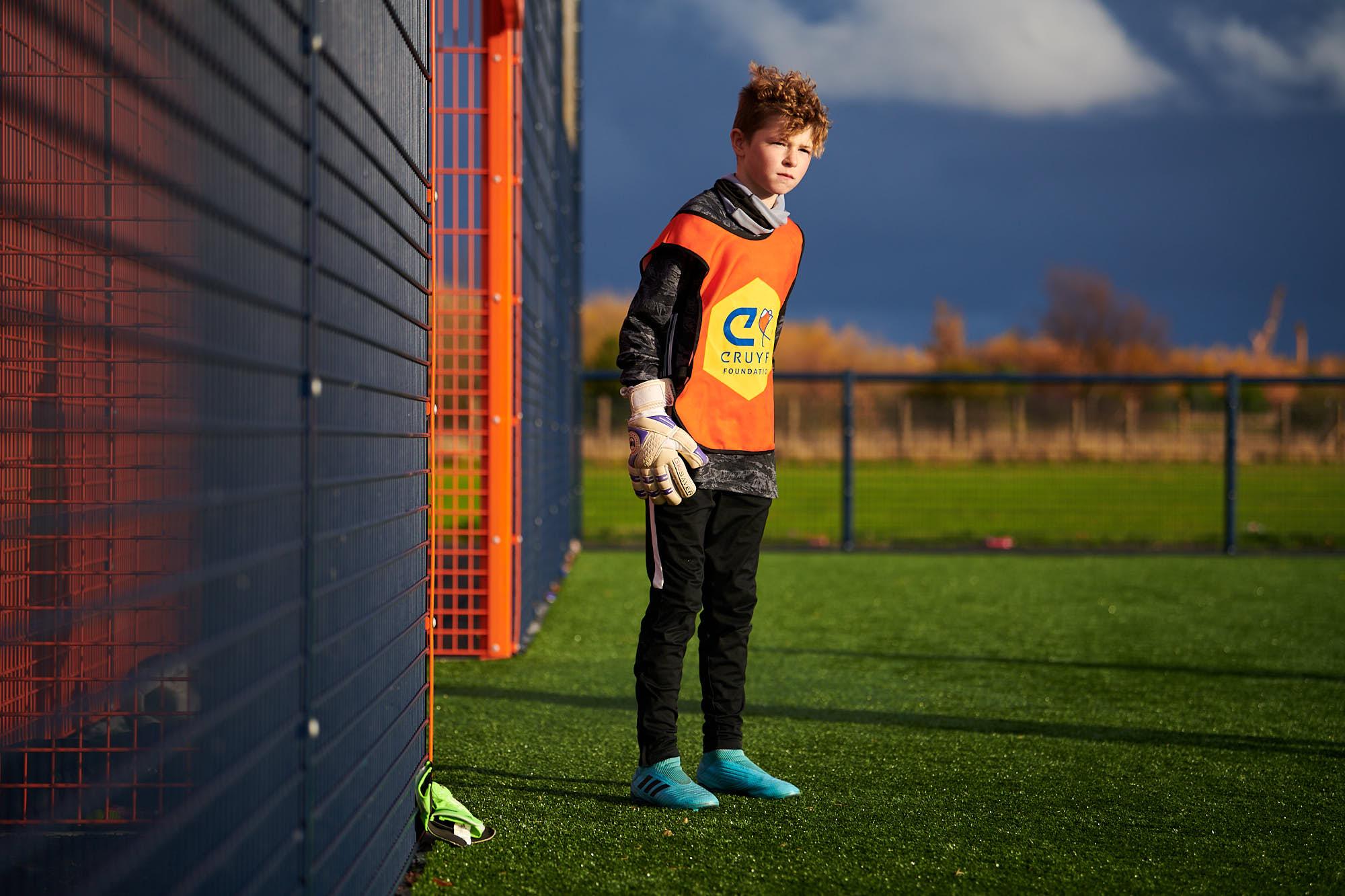 Goalkeeper on a Cruyff Court in Aberdeen