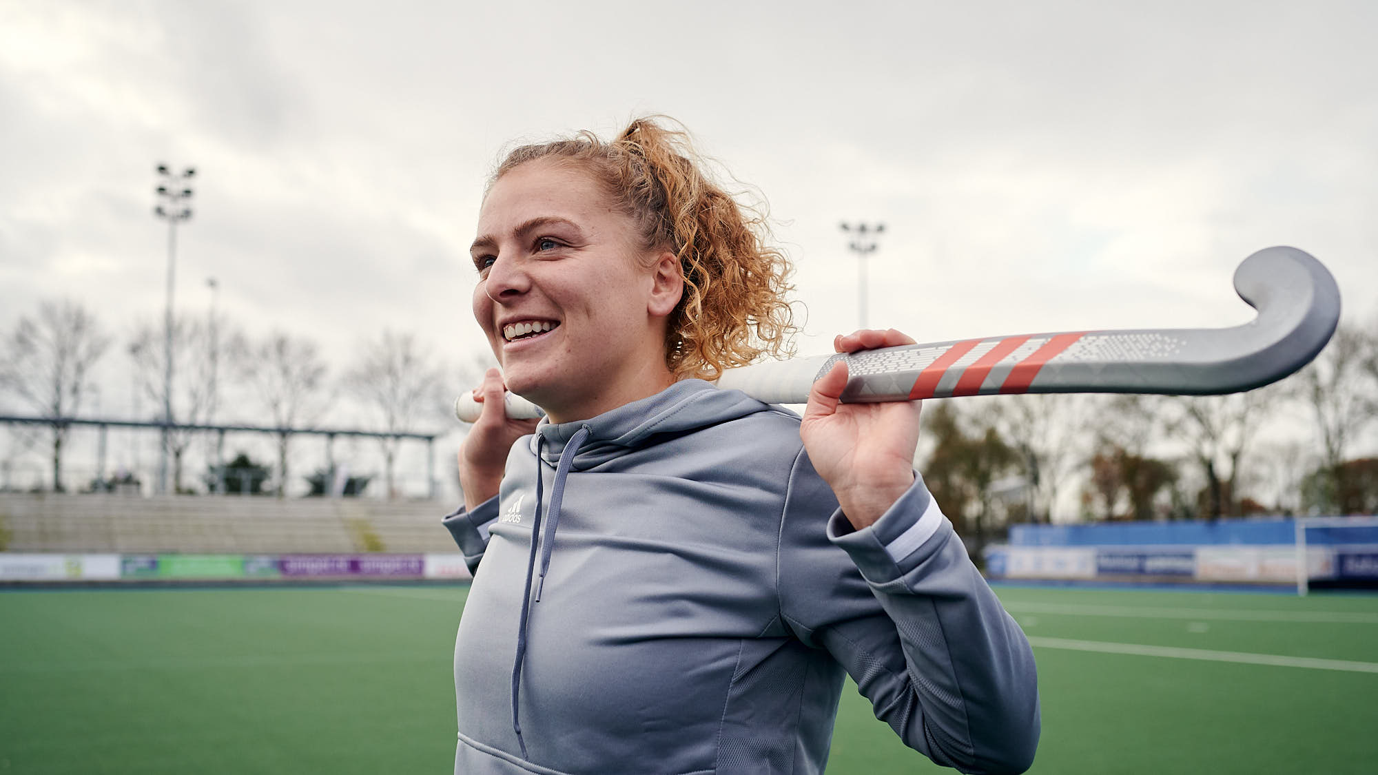 Portrait of Dutch hockey player Hester van der Veld