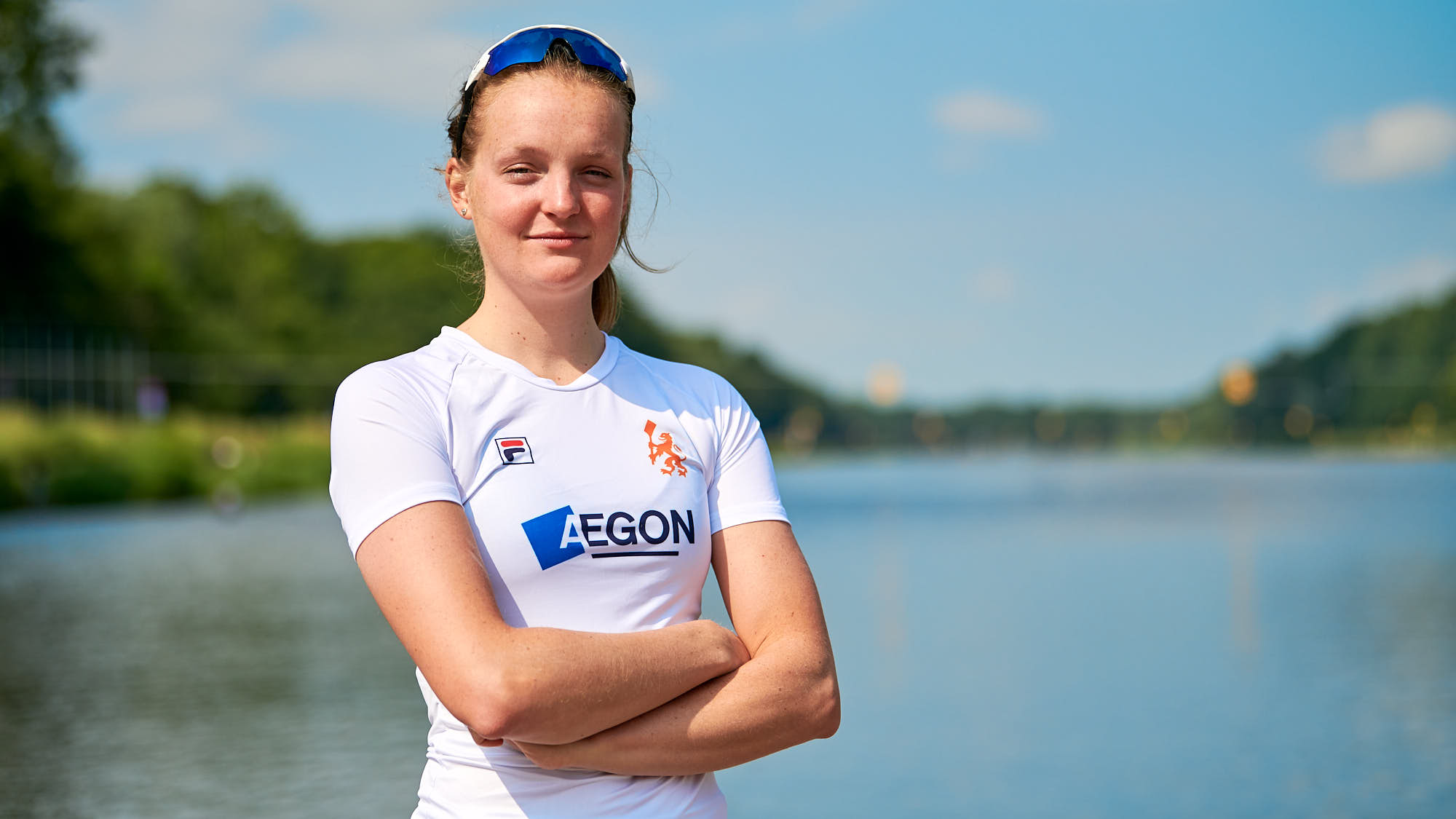 Portrait of top Dutch athlete Marieke Keijser