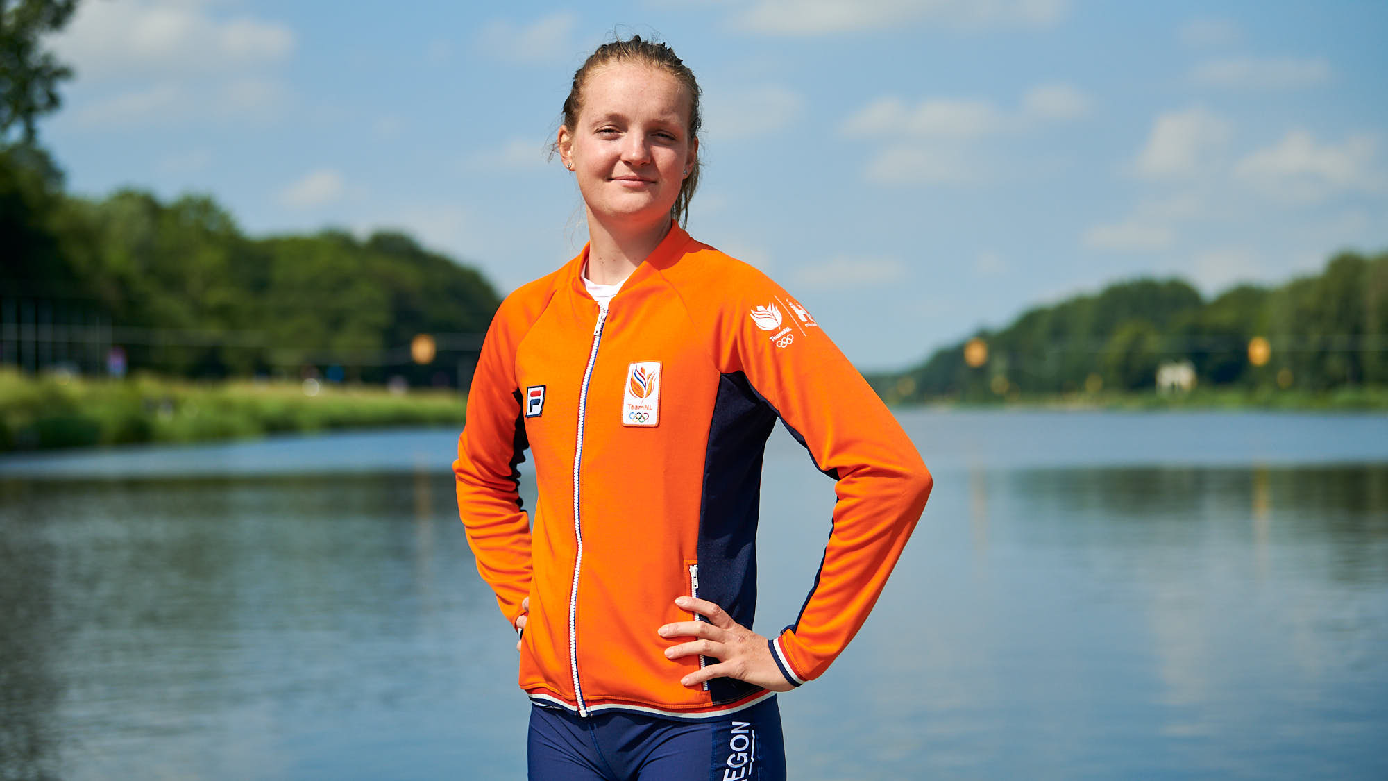 Portrait of Dutch top rower Marieke Keijser
