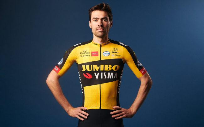Tom Dumoulin for Team Jumbo-Visma wearing 2021 kit